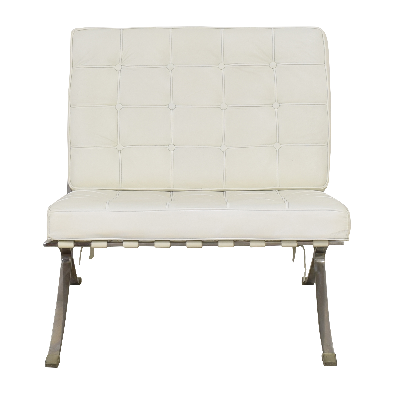 Barcelona Chair Replica with Ottoman nyc