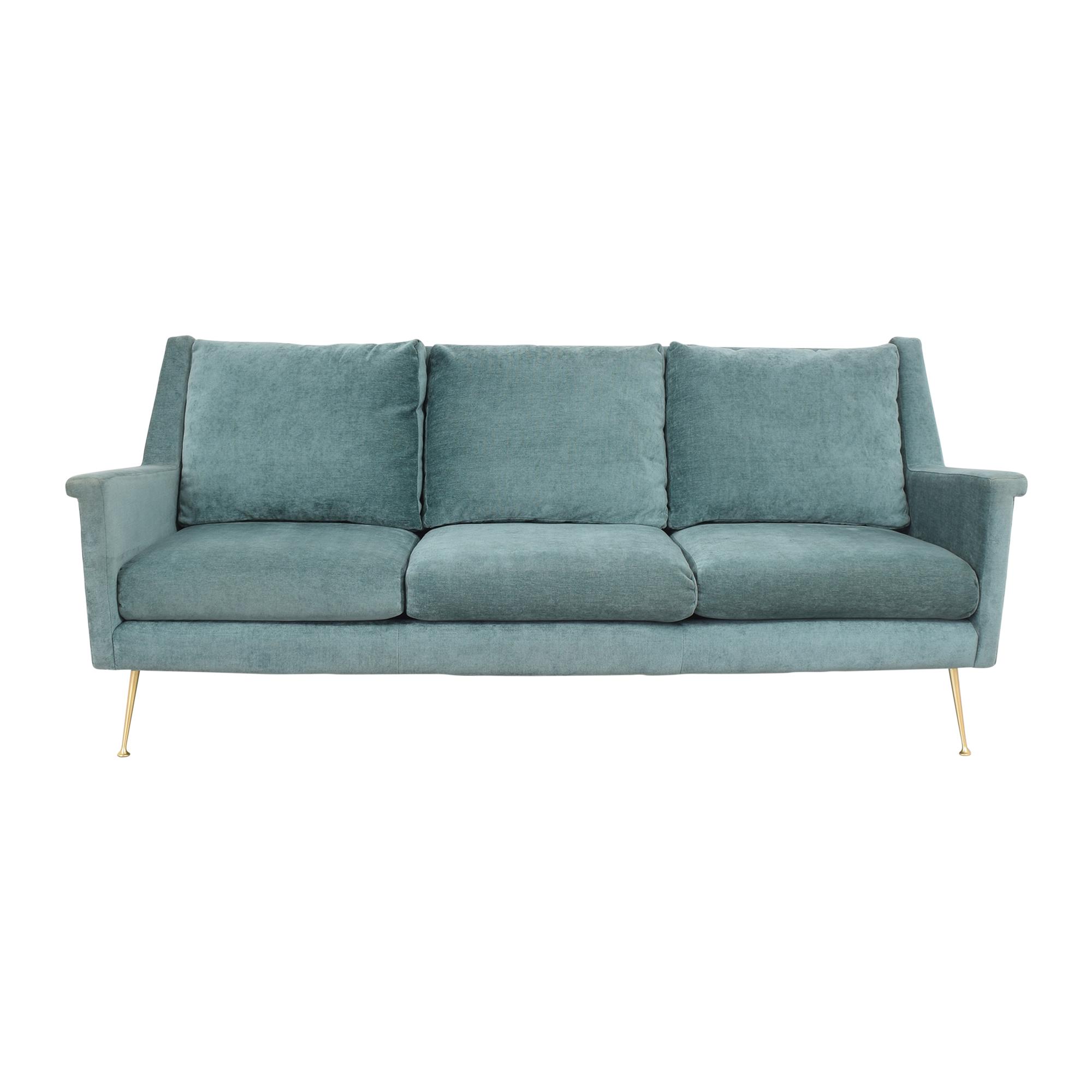 West Elm West Elm Carlo Mid Century Sofa Blue