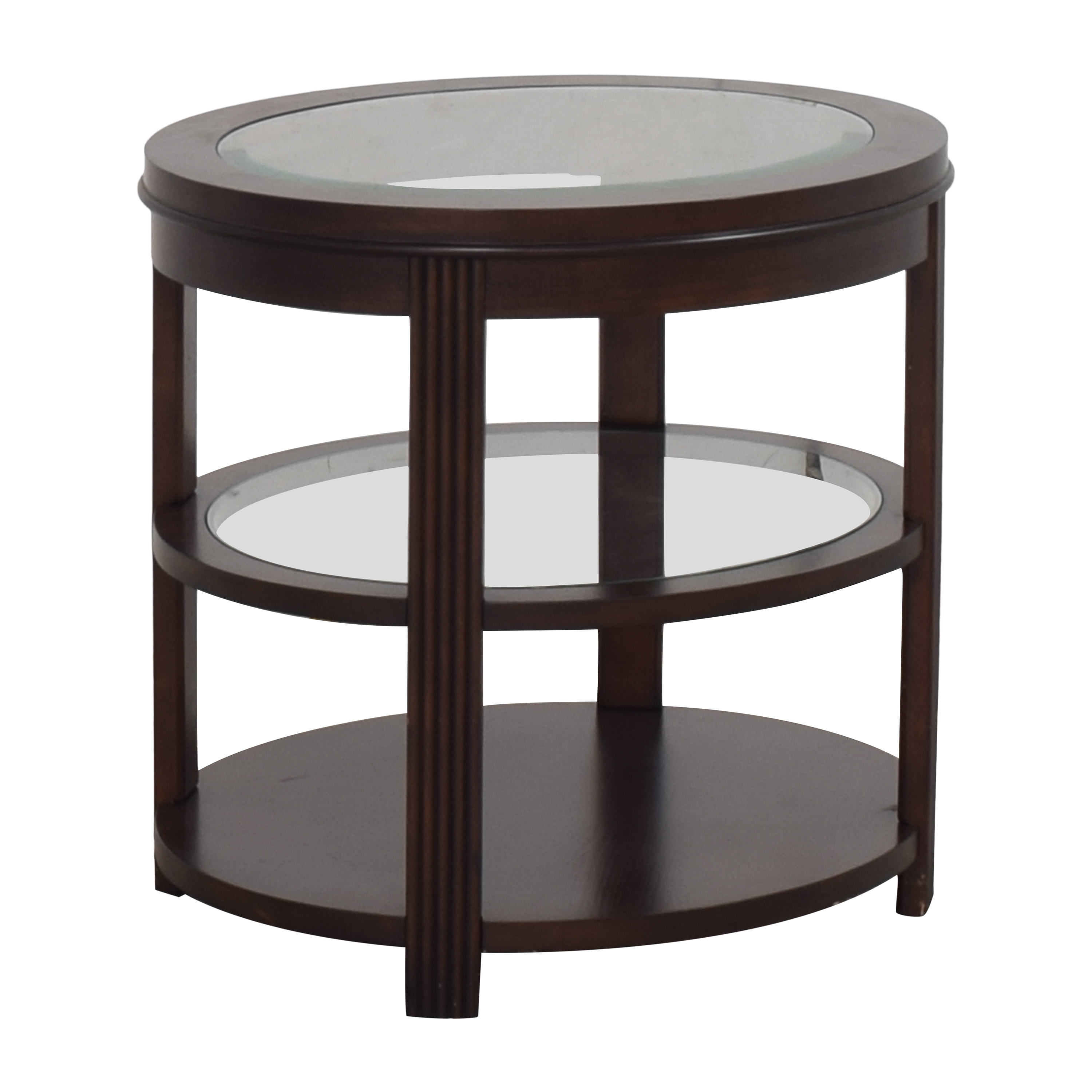 Three Tier Oval End Table for sale