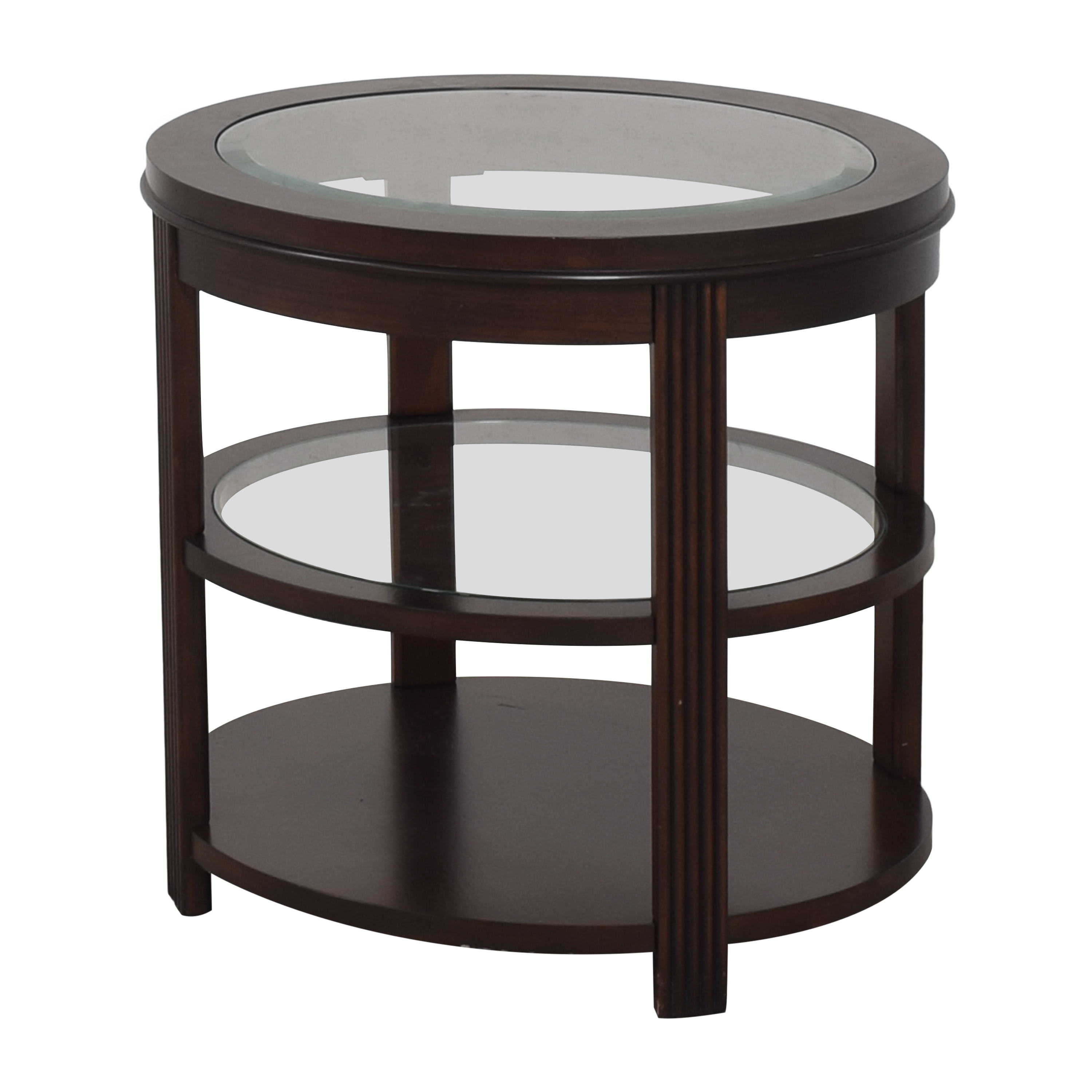 shop Three Tier Oval End Table  End Tables