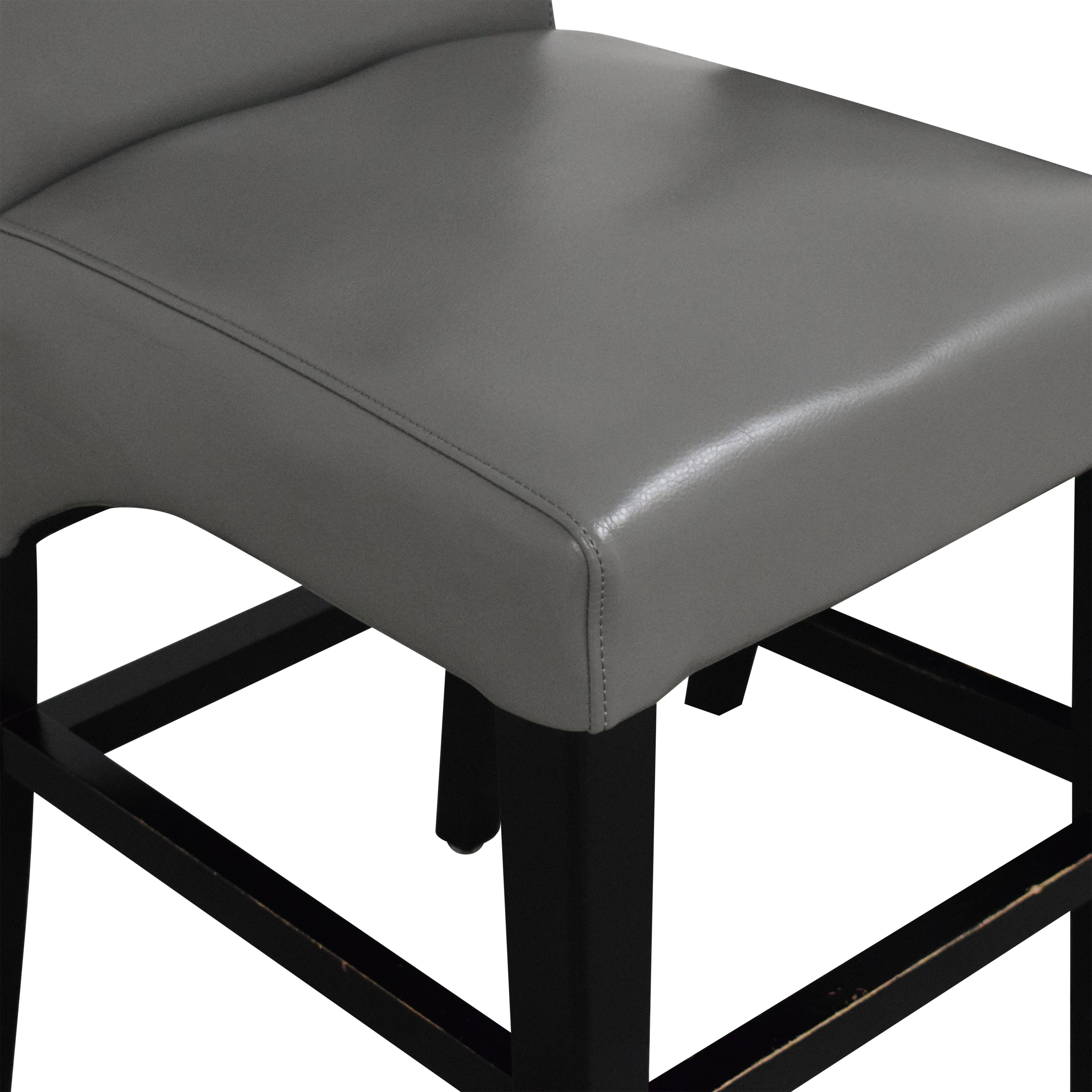 Upholstered Scroll Back Counter Stools ma