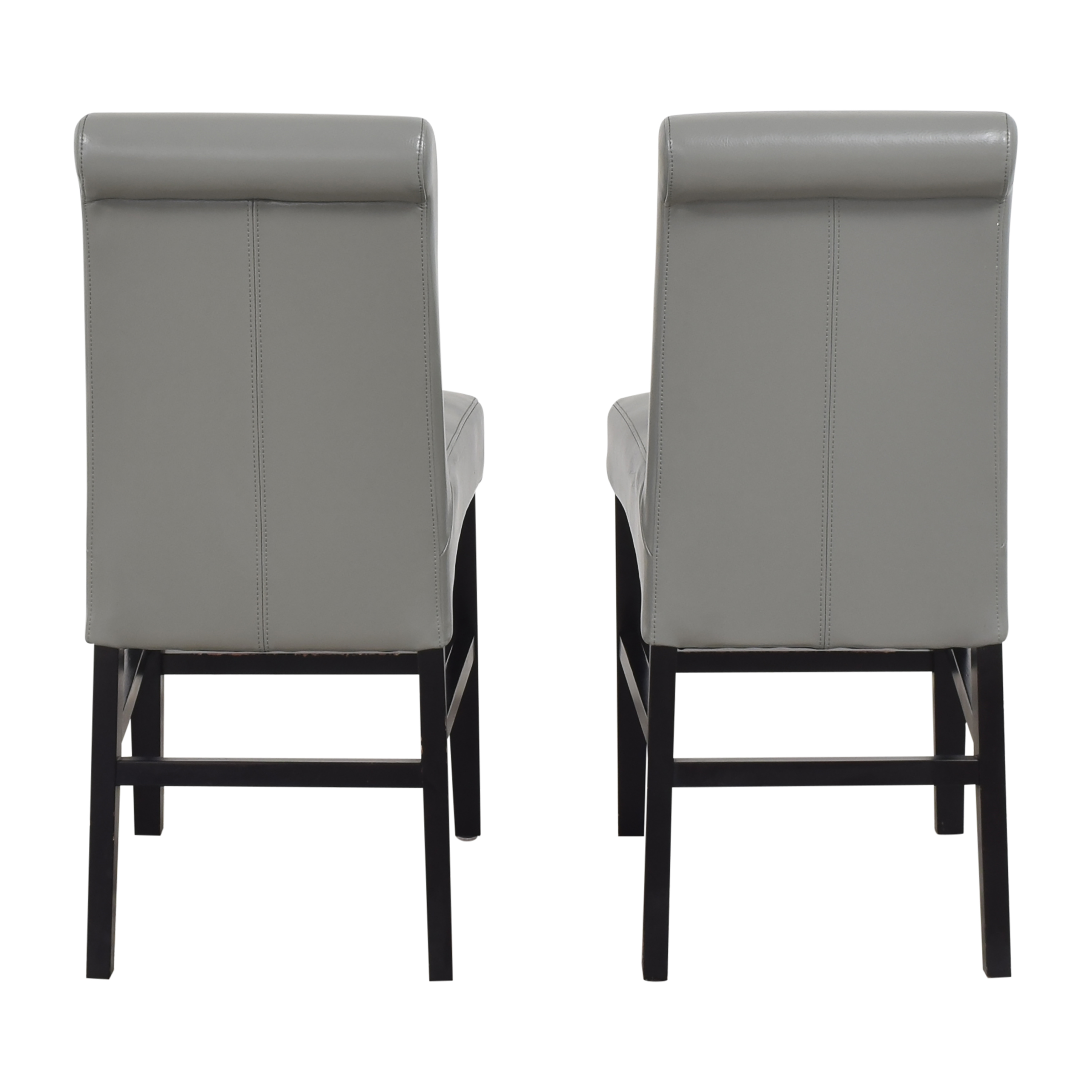 Upholstered Scroll Back Counter Stools