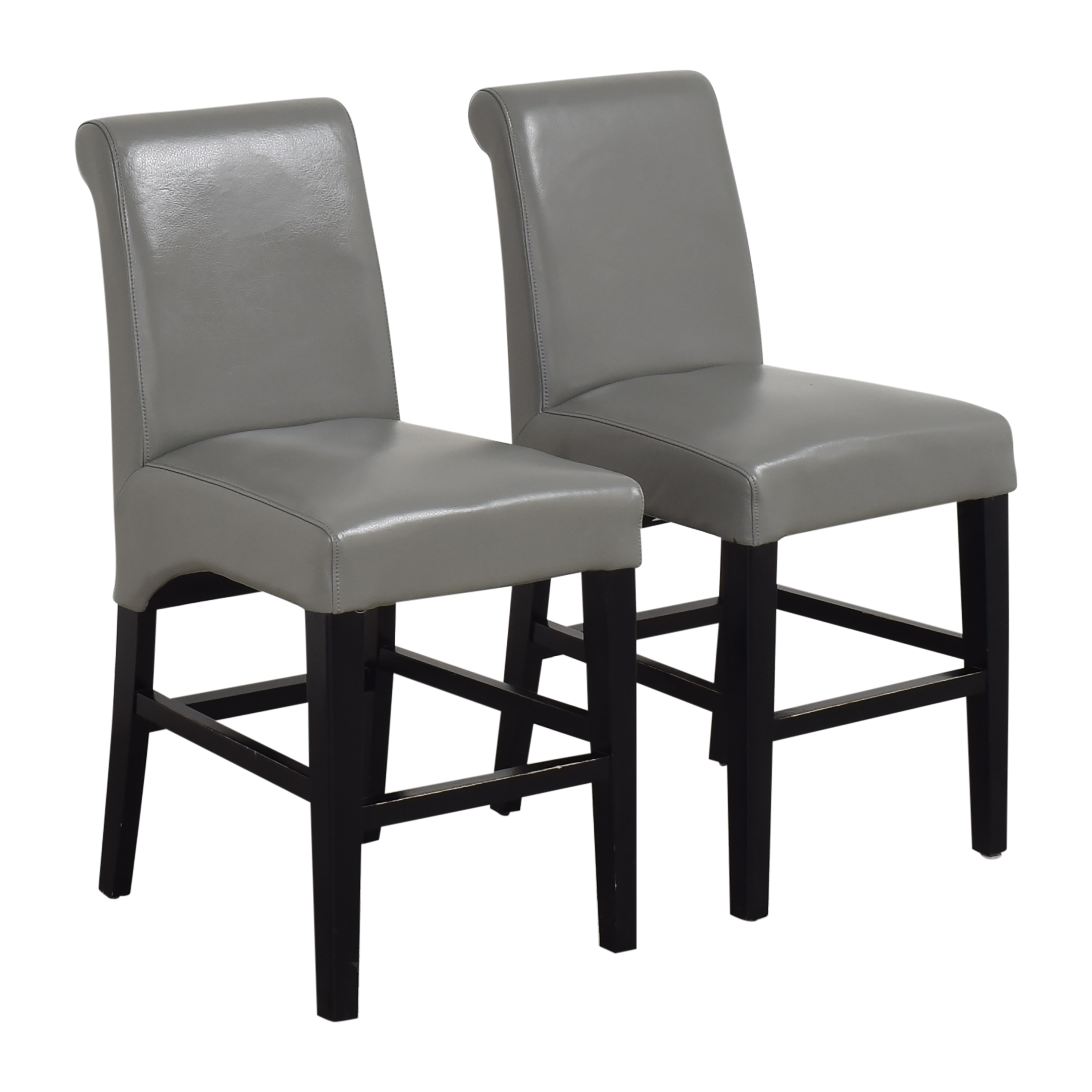 shop Upholstered Scroll Back Counter Stools