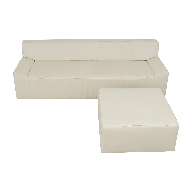 Blu Dot Couchoid Sofa with Blockoid Ottoman / Sofas