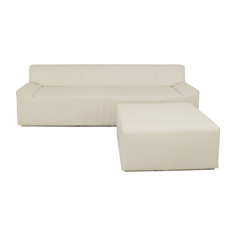Blu Dot Couchoid Sofa with Blockoid Ottoman sale