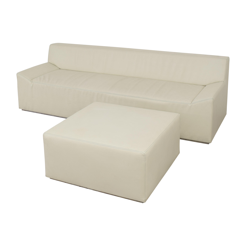 shop Blu Dot Blu Dot Couchoid Sofa with Blockoid Ottoman online