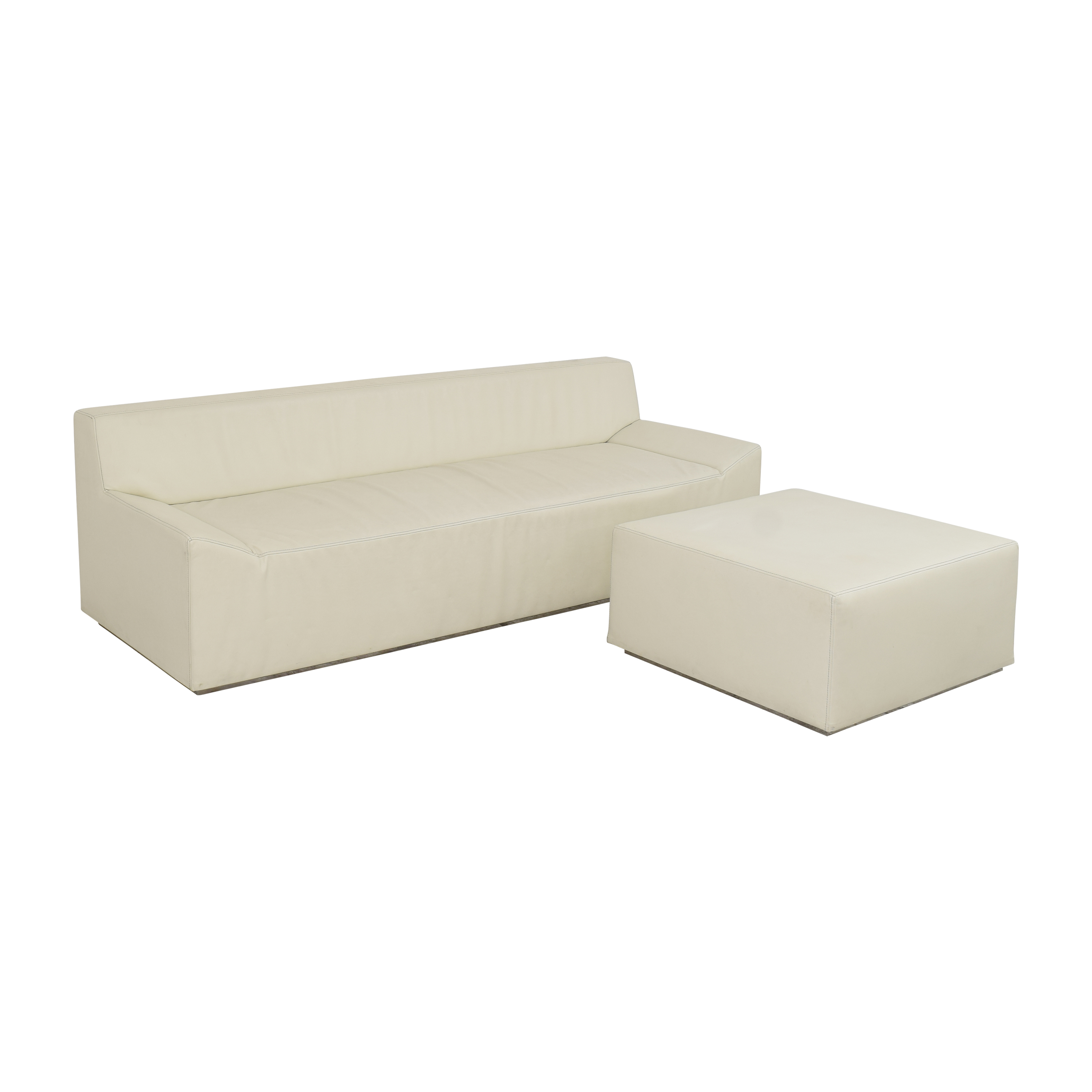 Blu Dot Couchoid Sofa with Blockoid Ottoman / Classic Sofas
