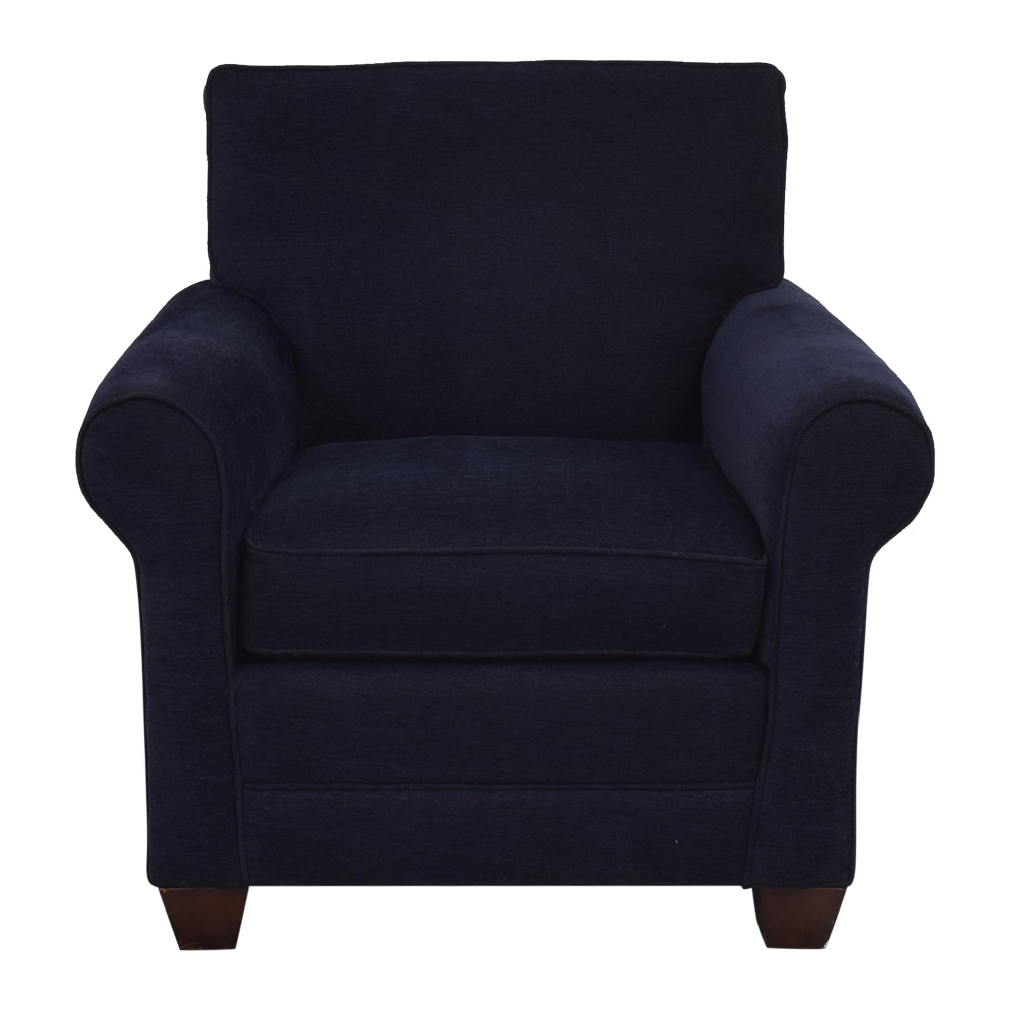 shop Bassett Furniture Roll Arm Accent Chair Bassett Furniture Chairs