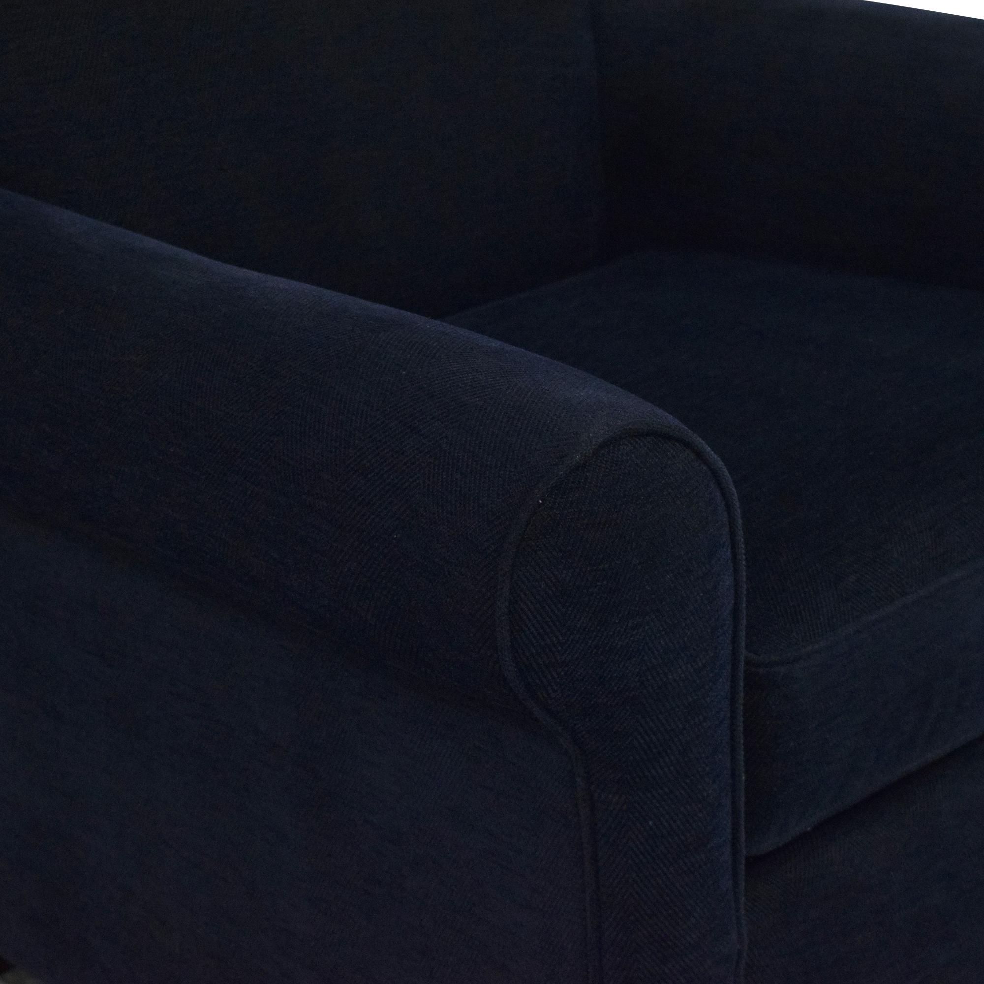 shop Bassett Furniture Roll Arm Accent Chair Bassett Furniture