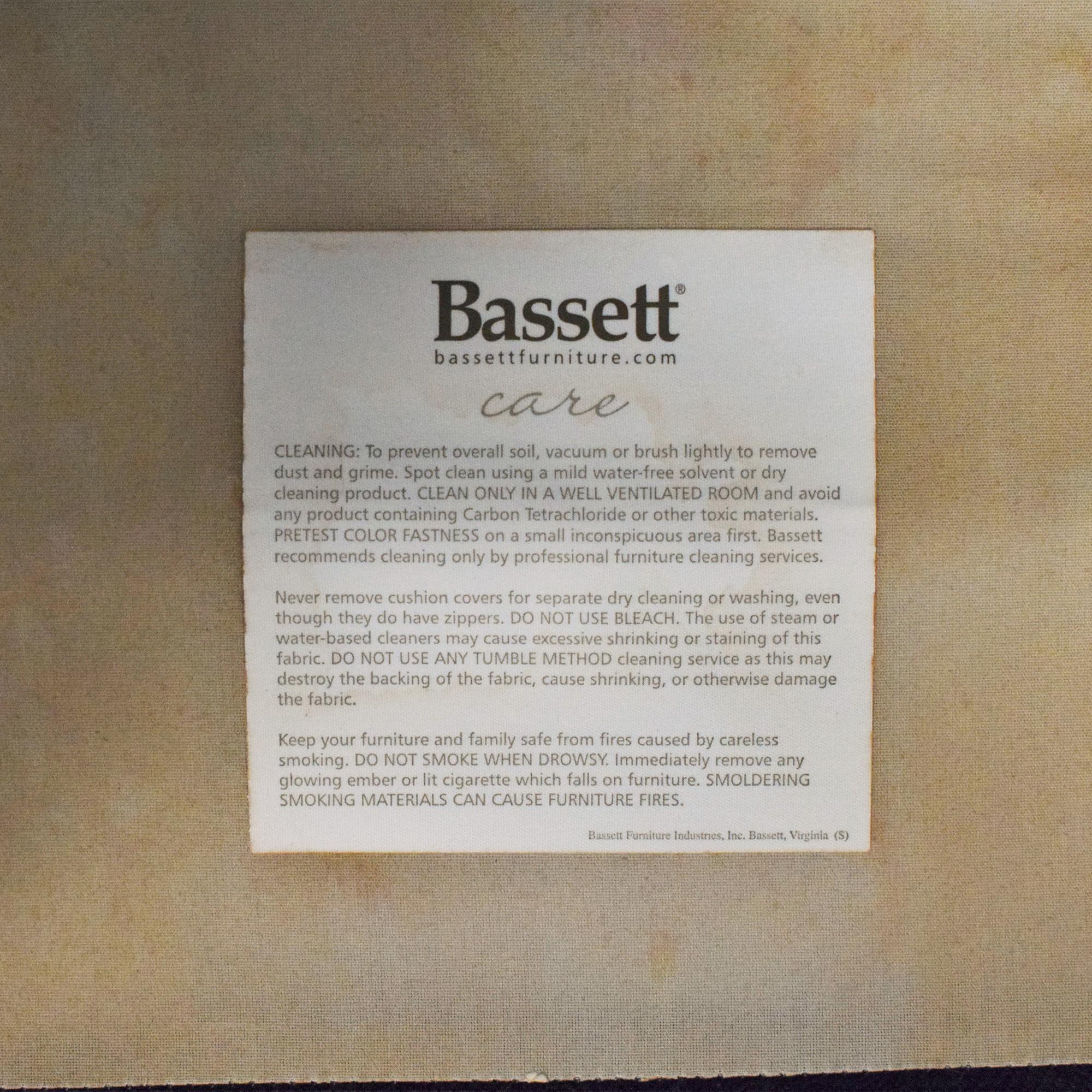 Bassett Furniture Bassett Furniture Roll Arm Accent Chair ct