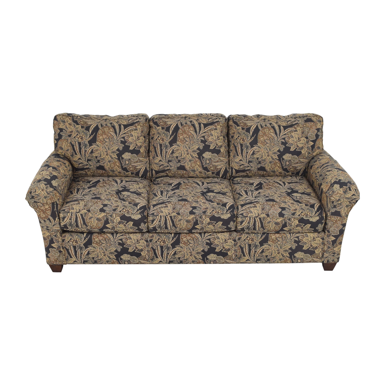shop Bassett Three Cushion Sofa Bassett Furniture Classic Sofas
