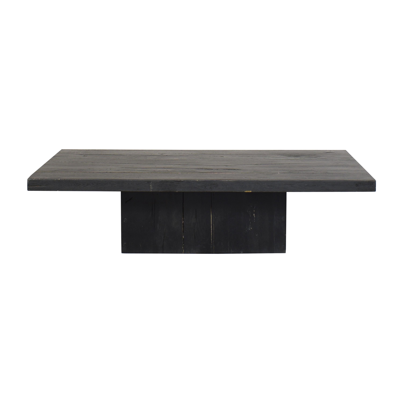 Restoration Hardware Restoration Hardware Reclaimed Plinth Coffee Table on sale