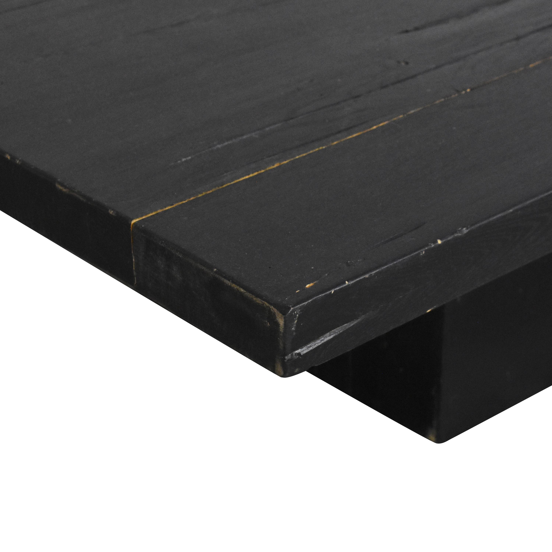 buy Restoration Hardware Reclaimed Plinth Coffee Table Restoration Hardware