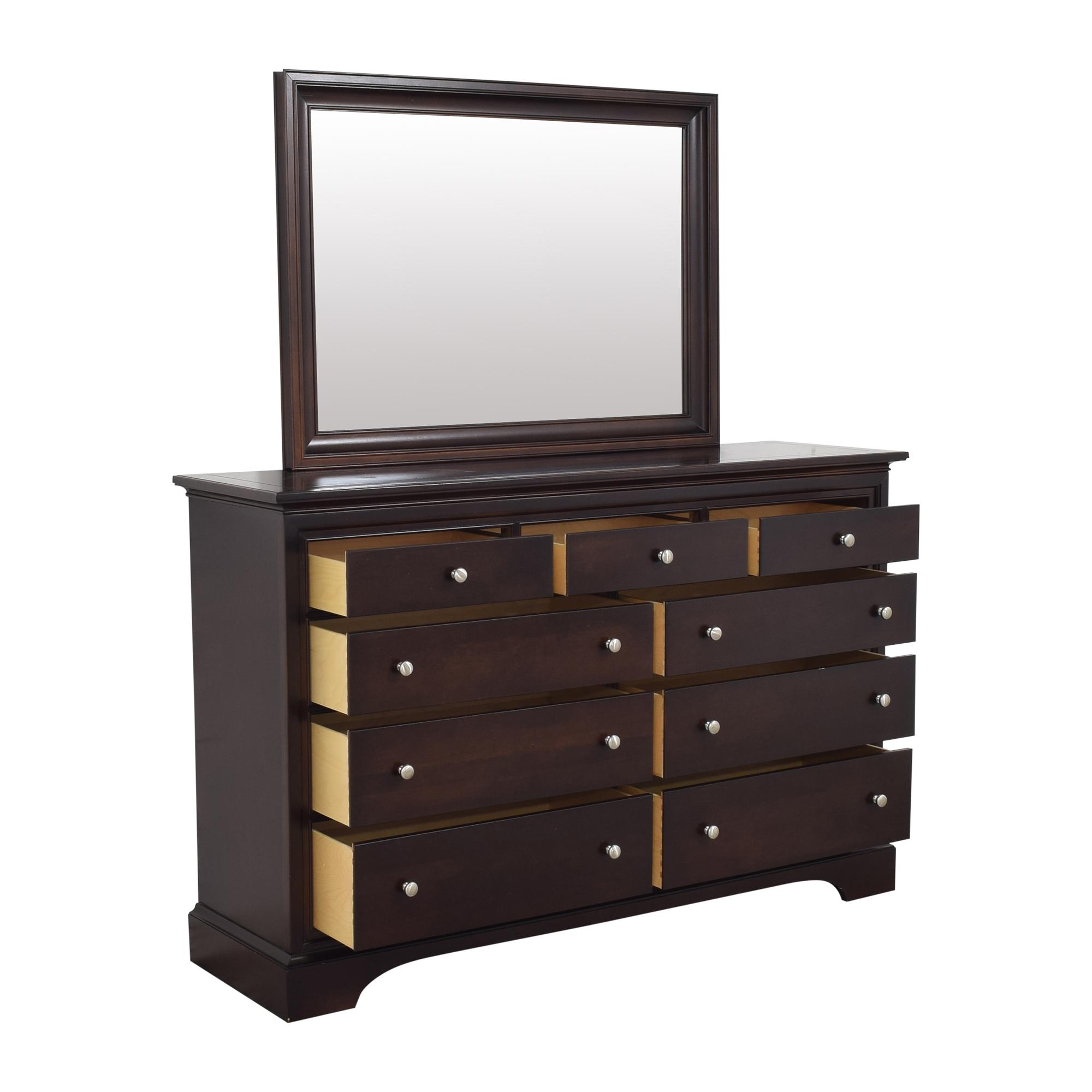 Stanley Furniture Stanley Furniture Nine Drawer Dresser with Mirror Dressers