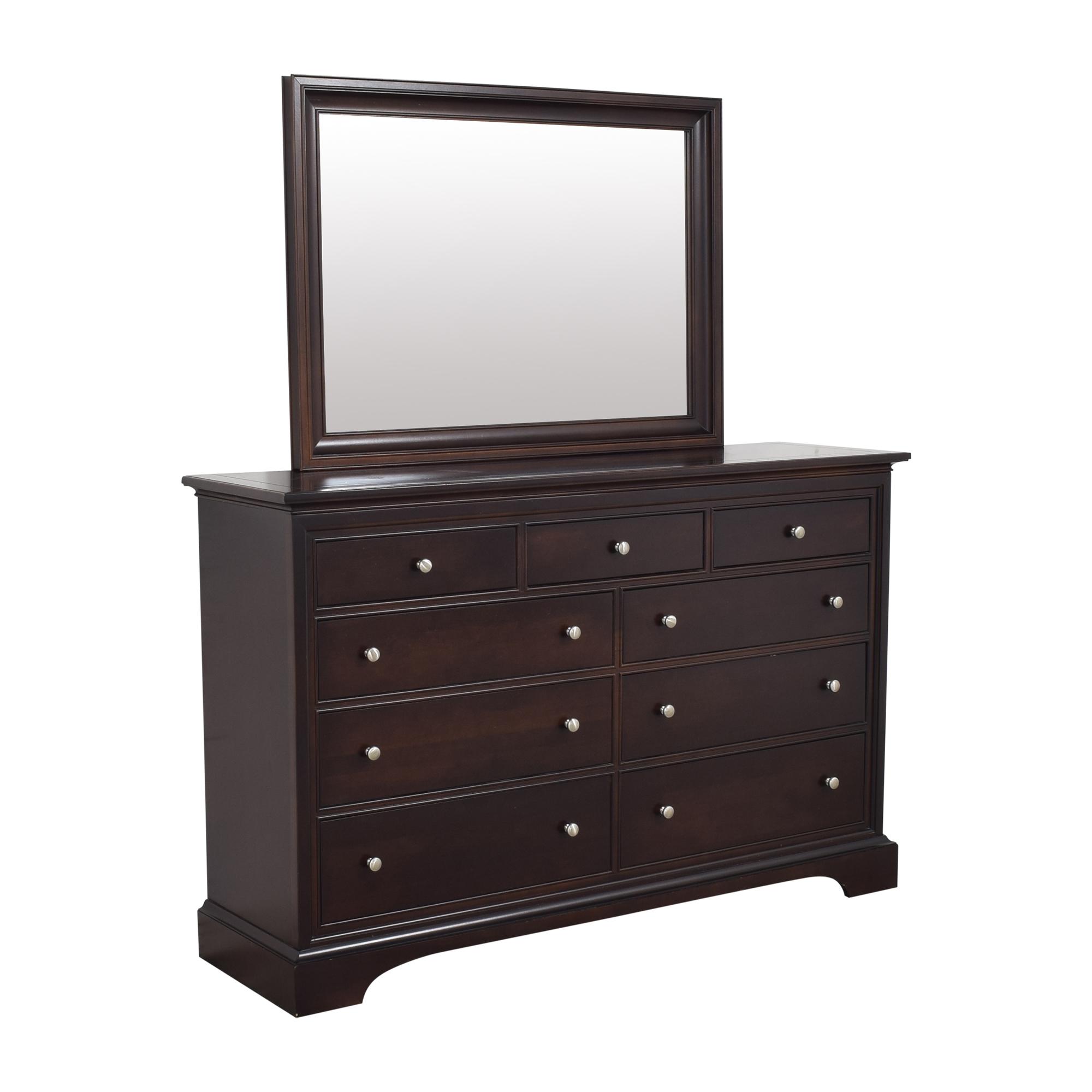 Stanley Furniture Nine Drawer Dresser with Mirror Stanley Furniture