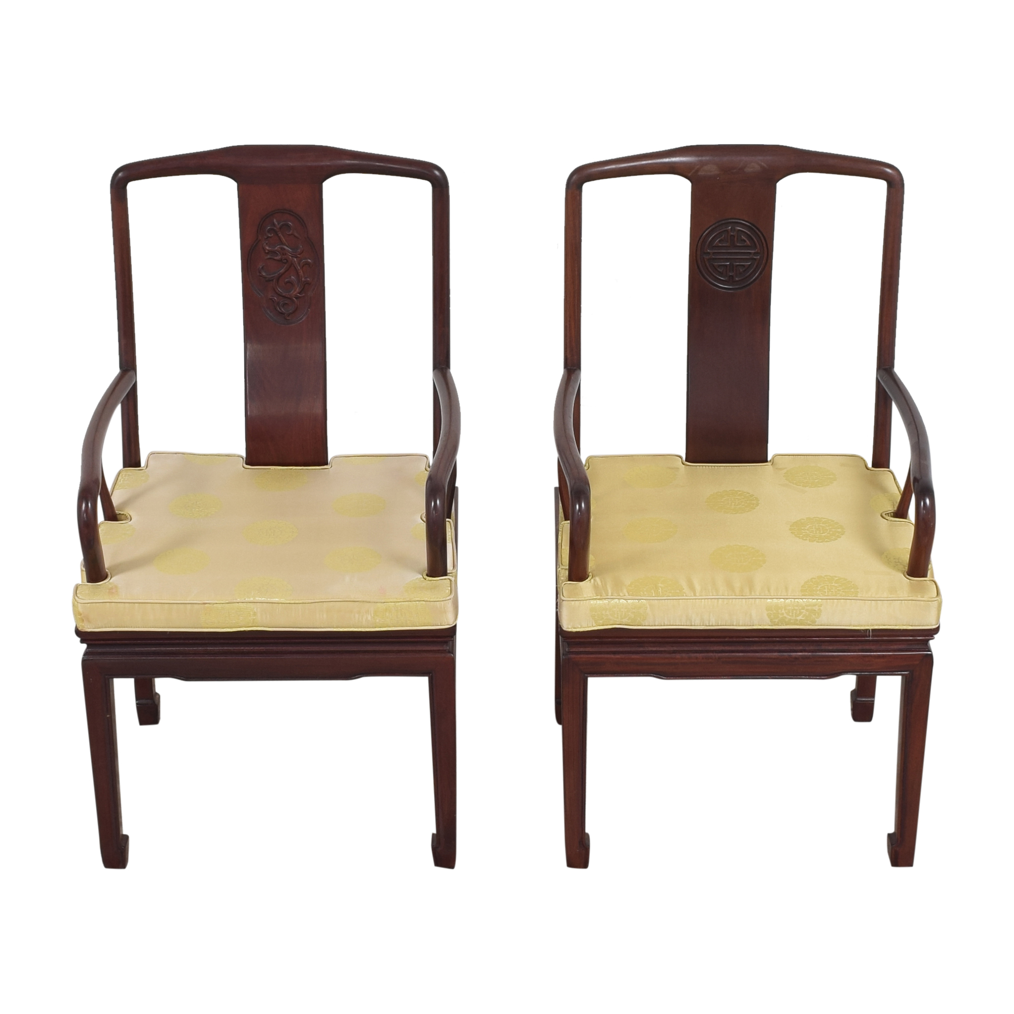 Chinoiserie Dining Arm Chairs sale