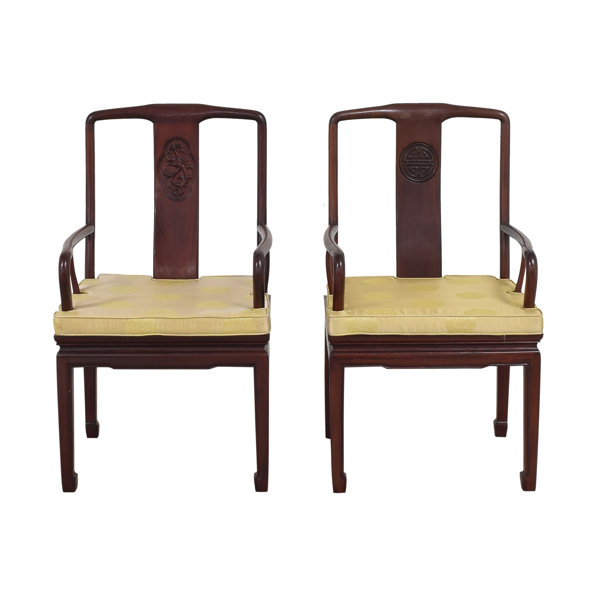 Chinoiserie Dining Arm Chairs discount