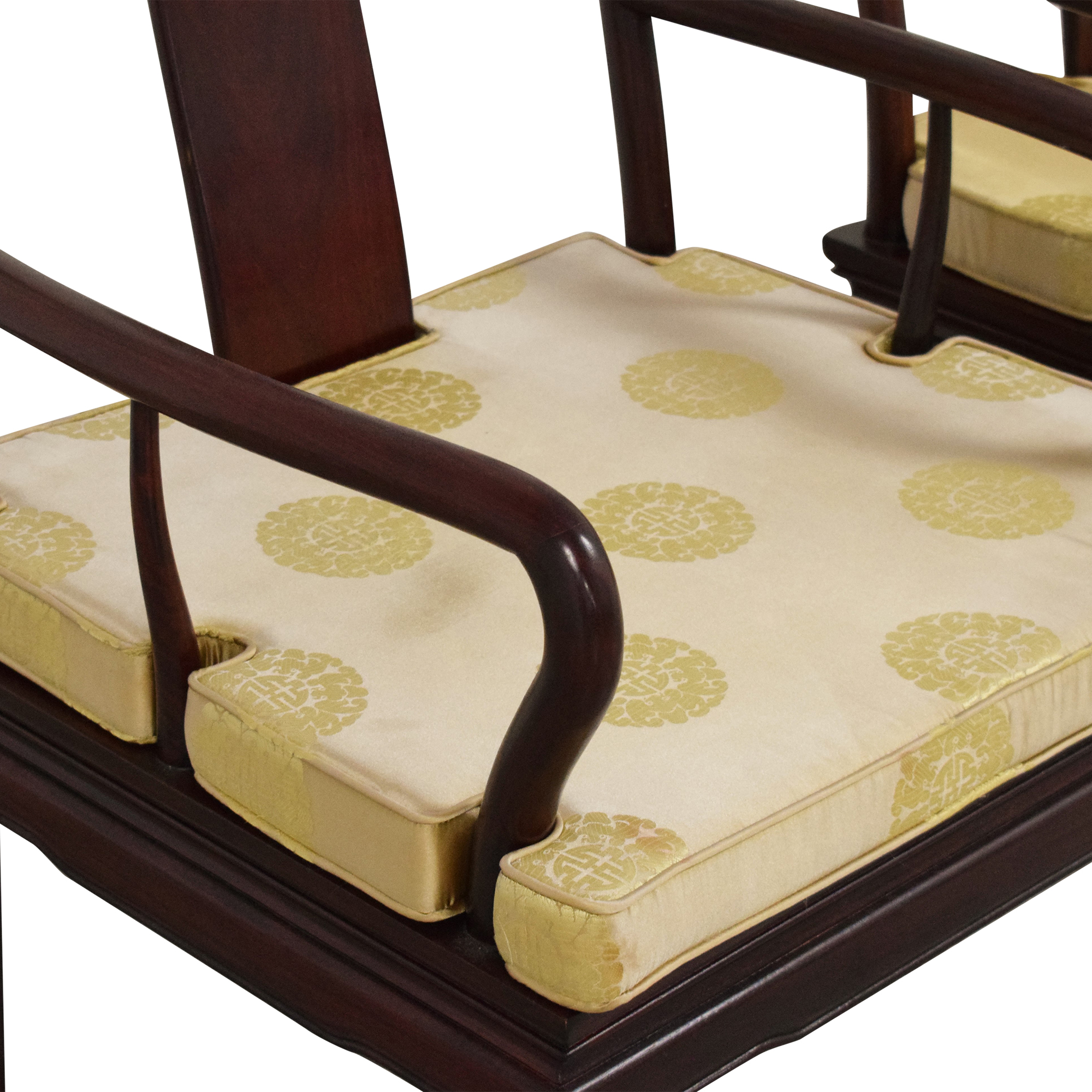 buy Chinoiserie Dining Arm Chairs  Dining Chairs