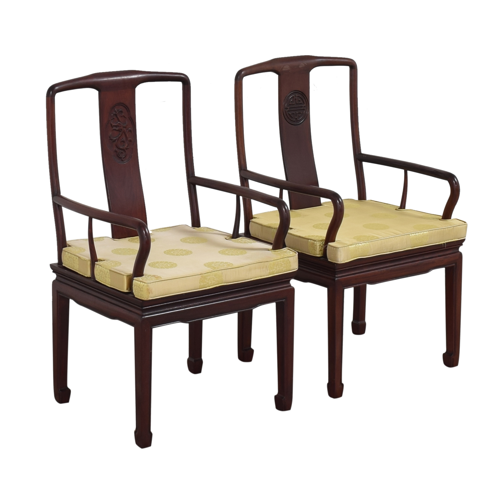 shop Chinoiserie Dining Arm Chairs