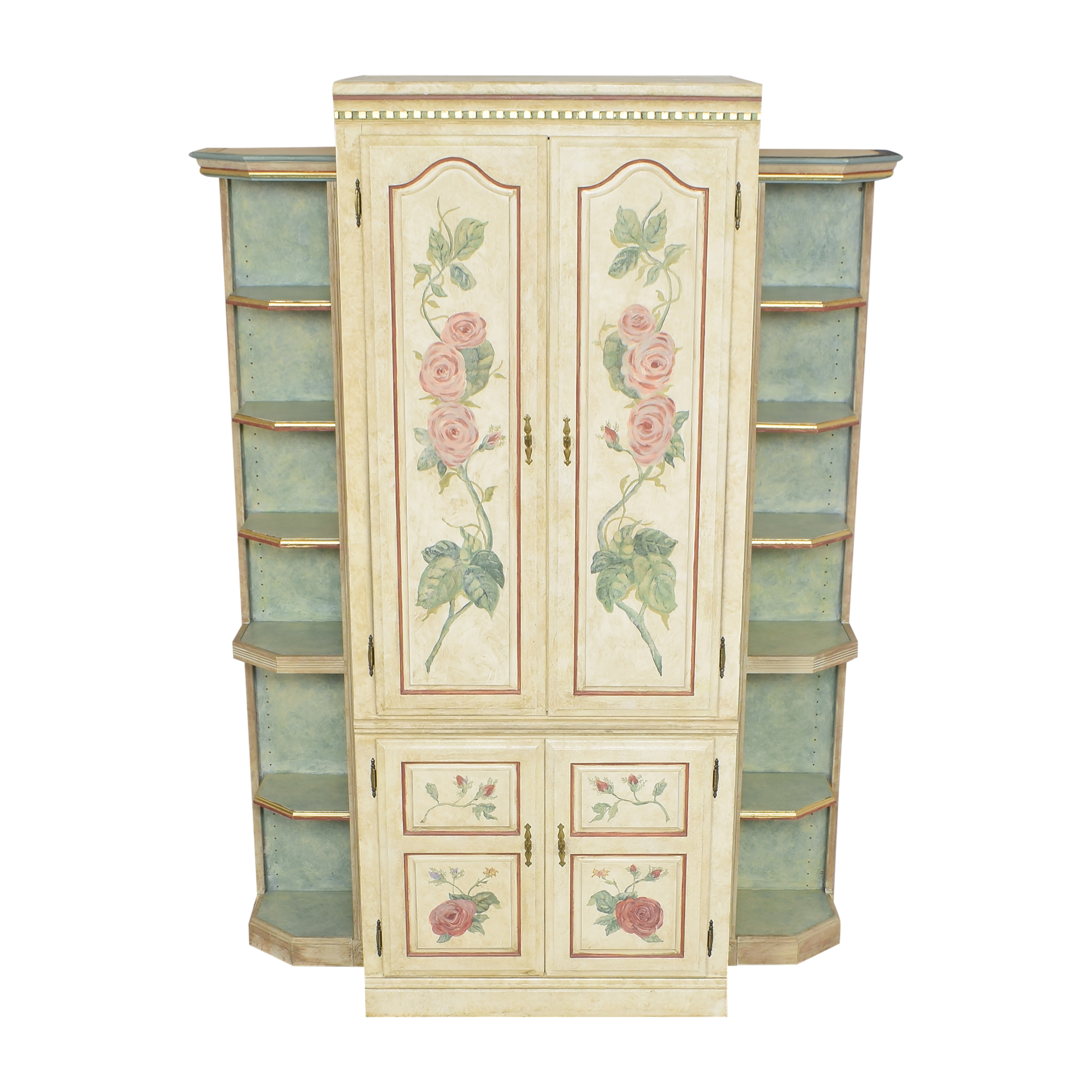 shop Floral Armoire with Shelves  Wardrobes & Armoires