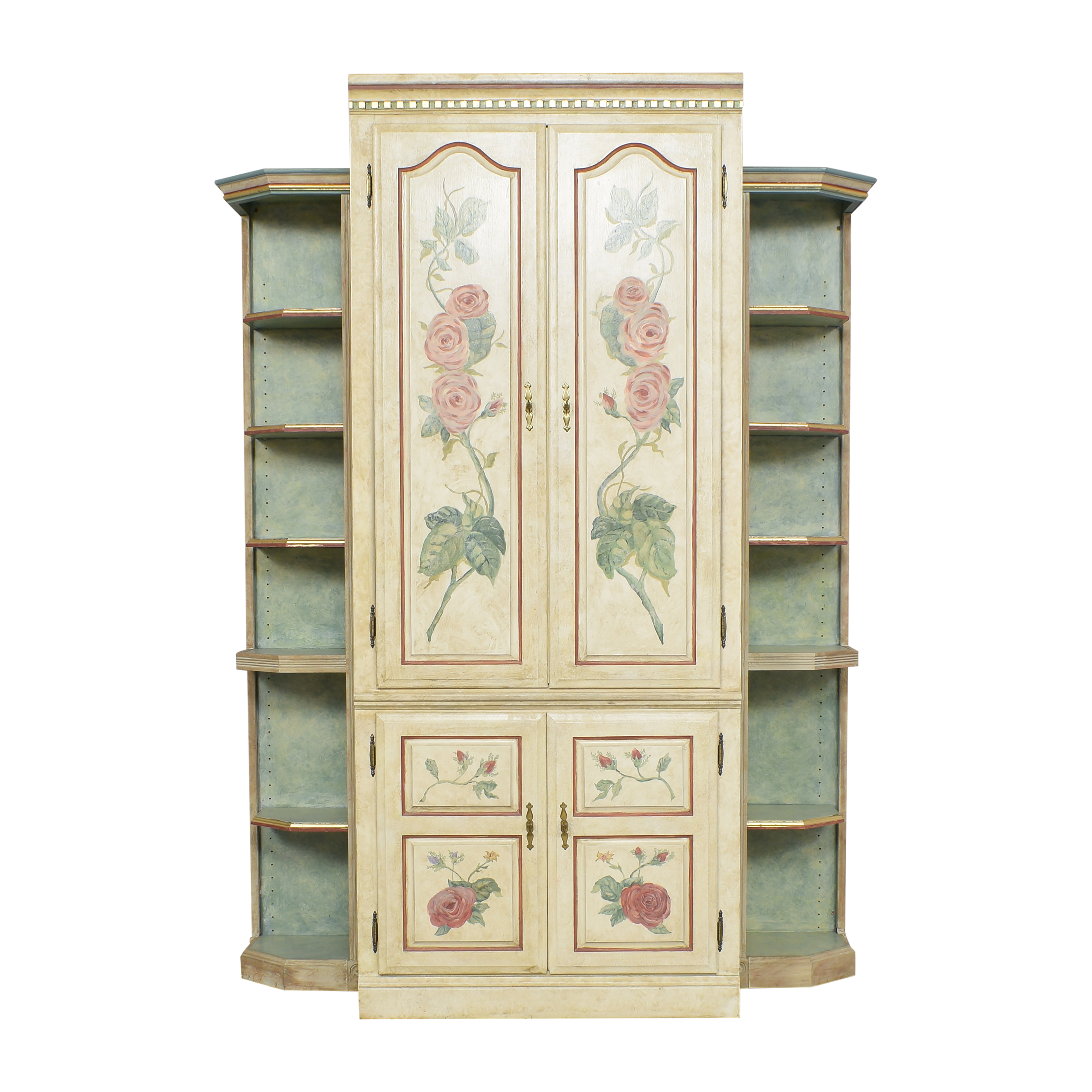 Floral Armoire with Shelves