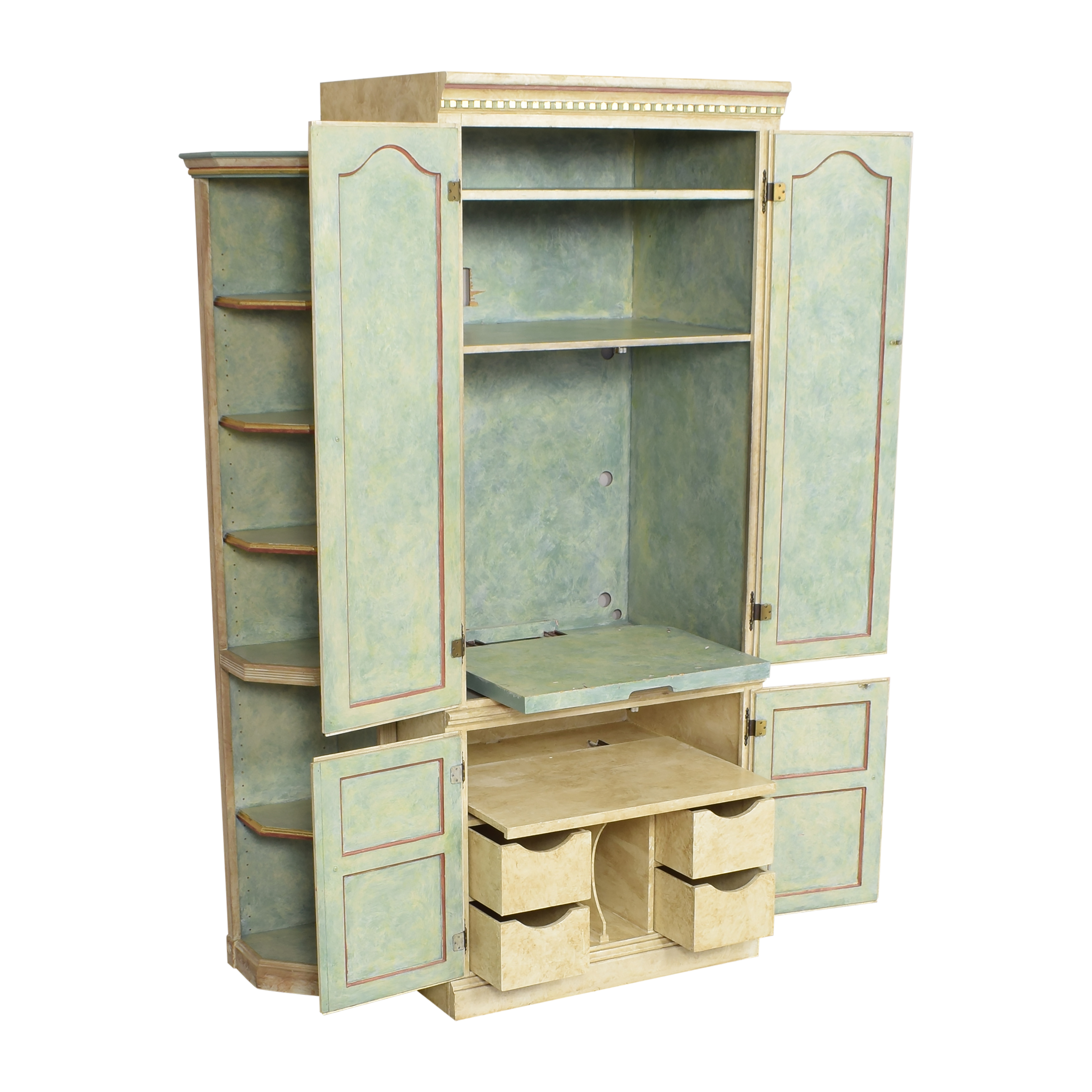 Floral Armoire with Shelves / Storage