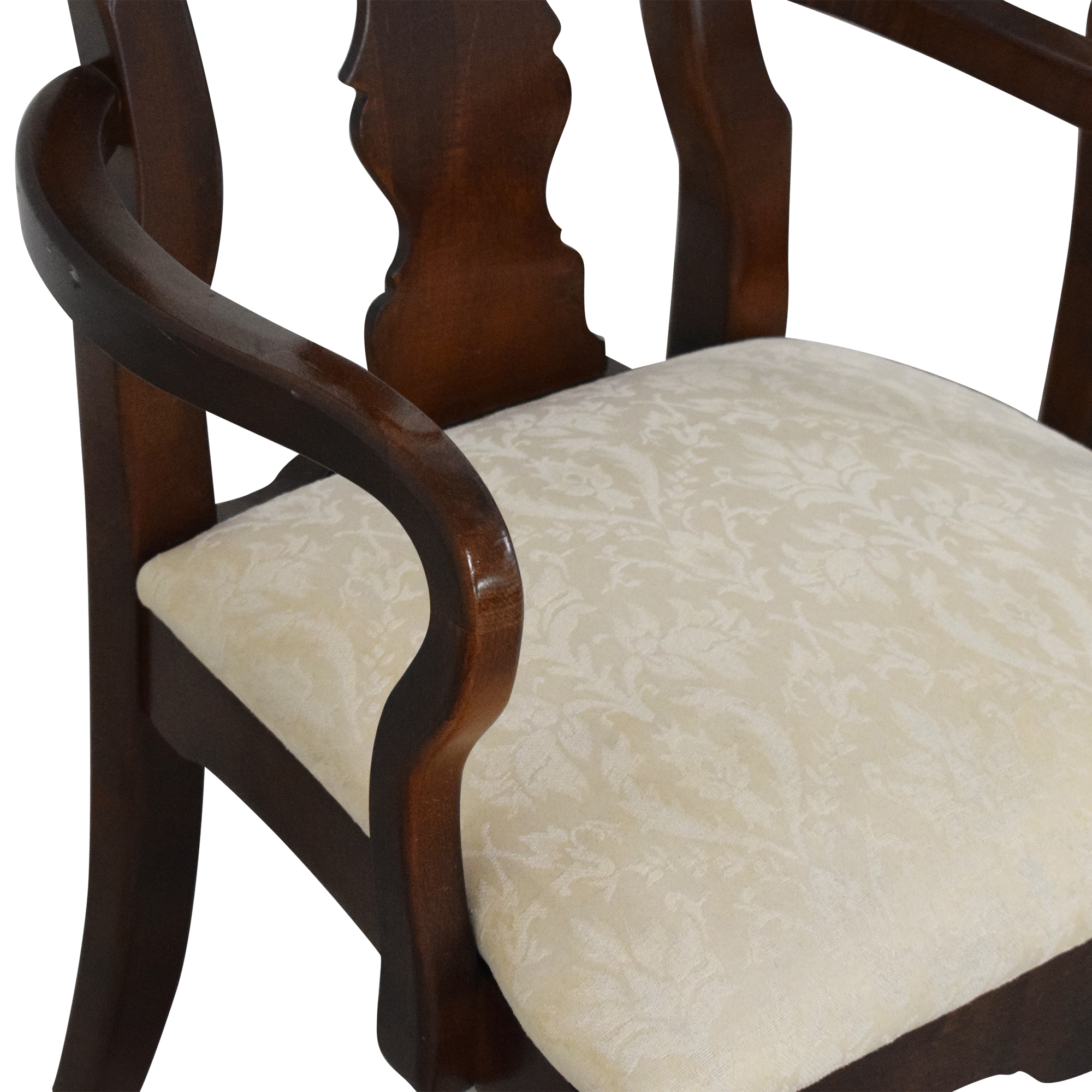 American Drew American Drew Cherry Grove Dining Chairs off white and brown