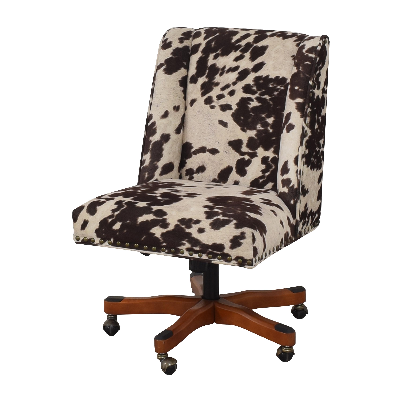 shop Linon Home Decor Wells Upholstered Swivel Office Chair Linon Home Decor Home Office Chairs