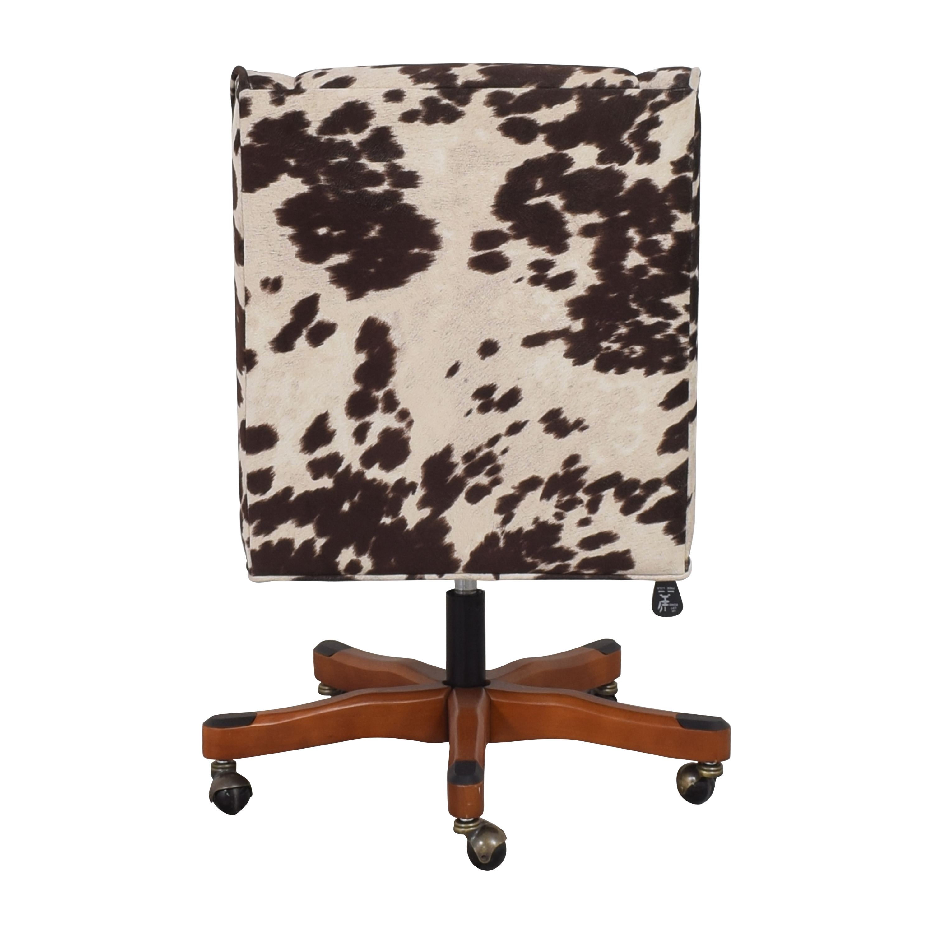Linon Home Decor Linon Home Decor Wells Upholstered Swivel Office Chair brown and off white