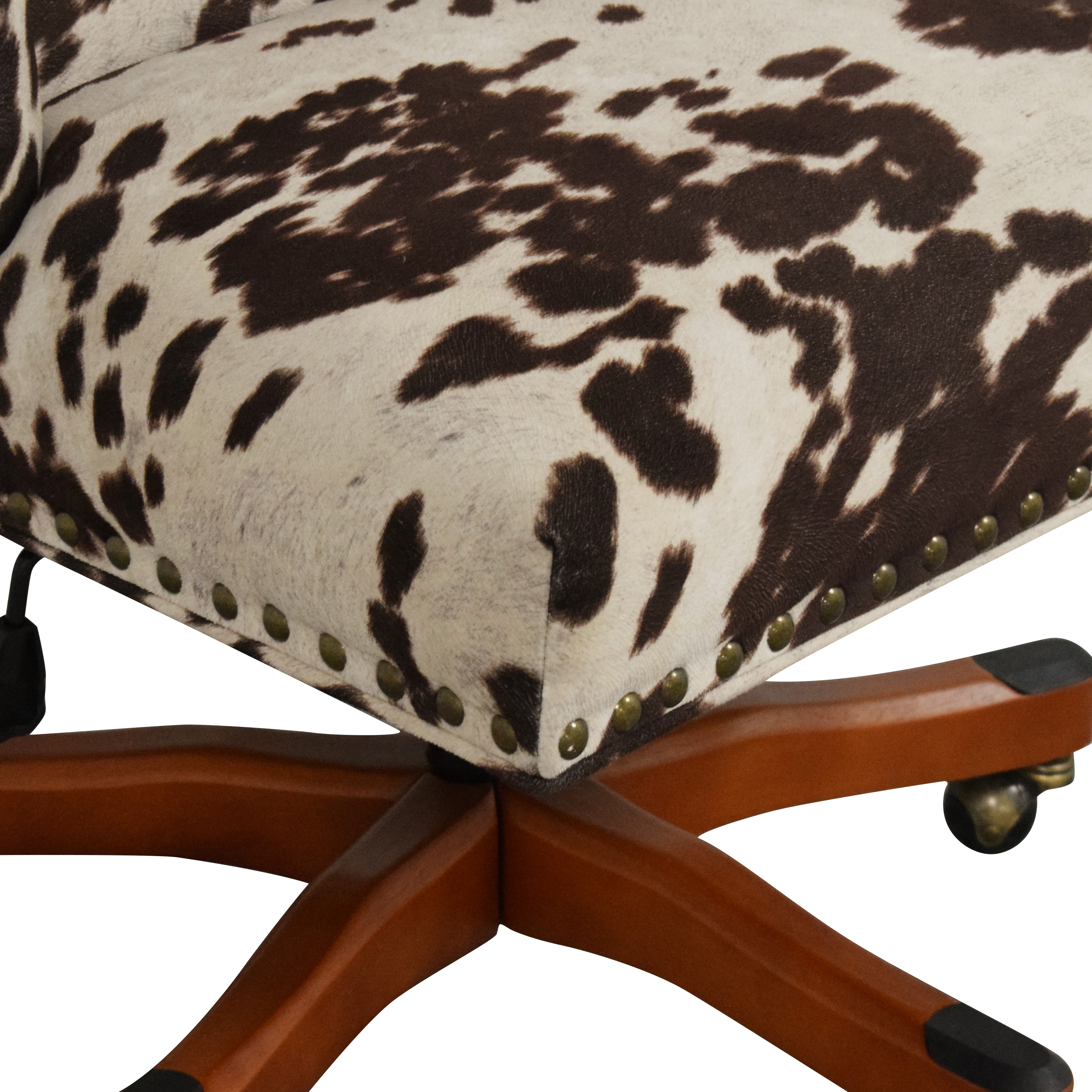 Linon Home Decor Wells Upholstered Swivel Office Chair / Home Office Chairs