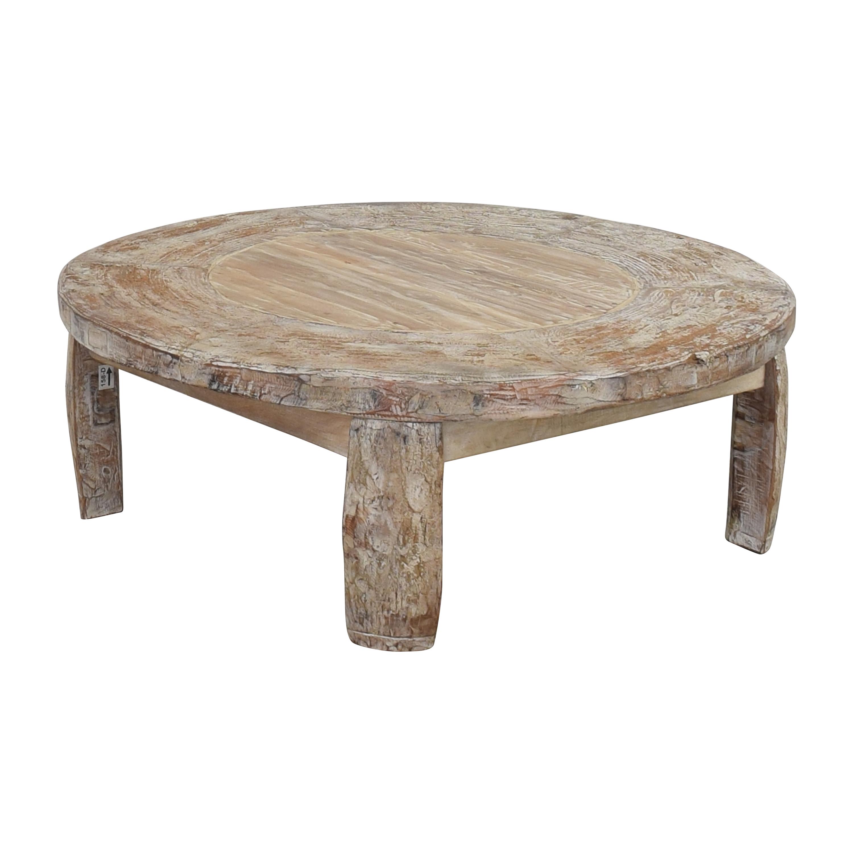 Pottery Barn Pottery Barn Bullock Wagon Wheel Table dimensions