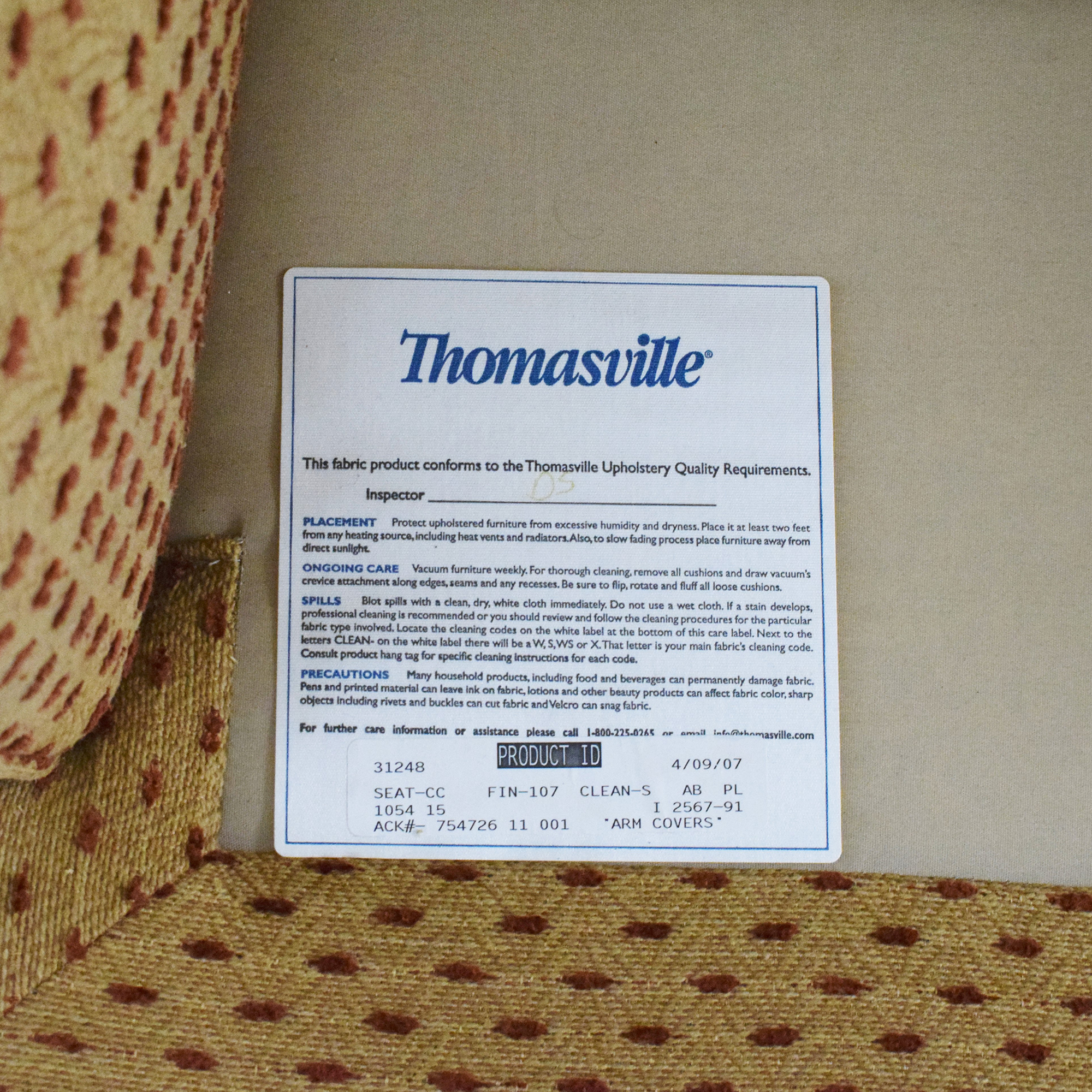 Thomasville Thomasville Accent Chair with Ottoman price