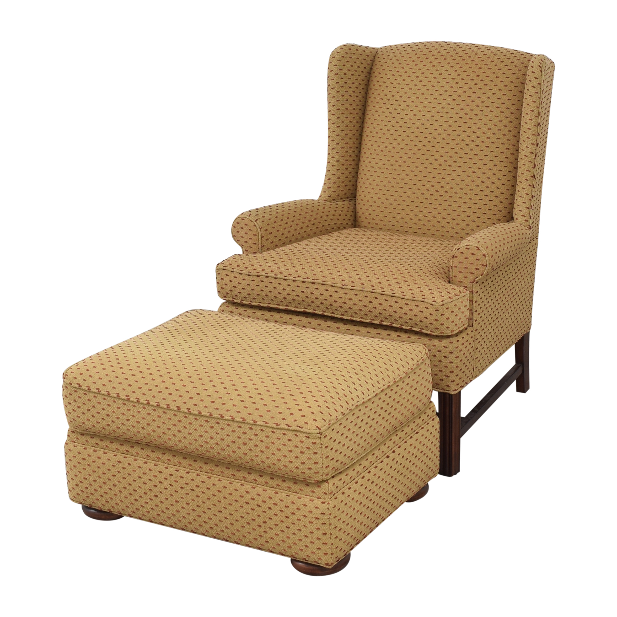 Thomasville Thomasville Accent Chair with Ottoman Chairs