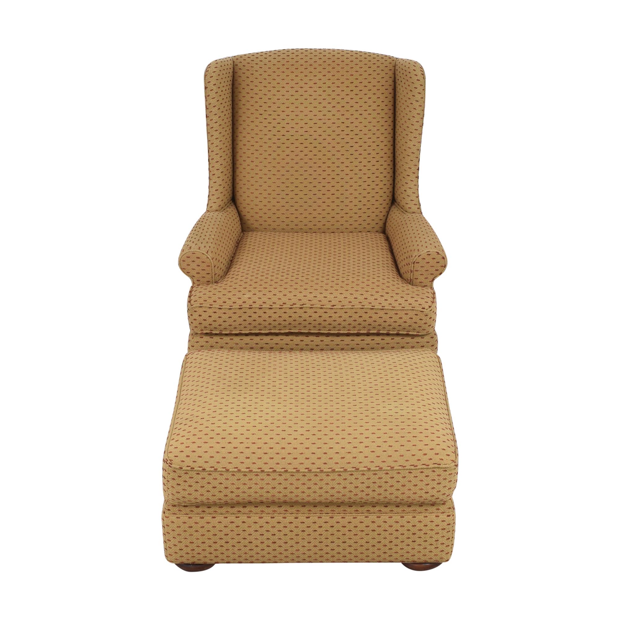 Thomasville Accent Chair with Ottoman Thomasville