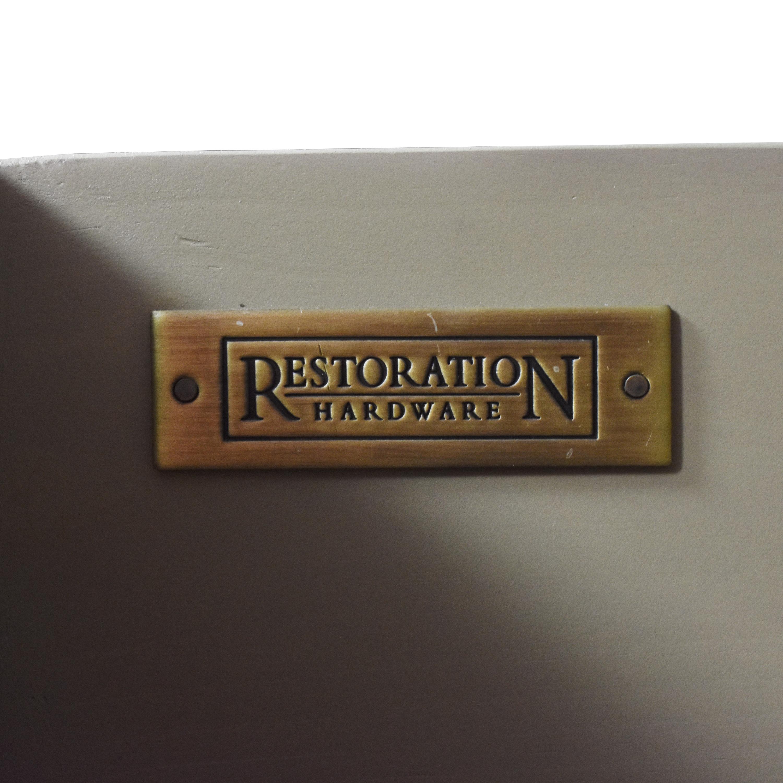 shop Restoration Hardware Empire Rosette Closed Nightstand Restoration Hardware