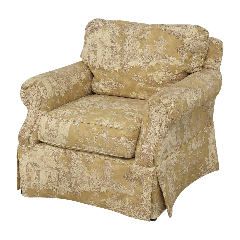 shop Domain Home Toile Club Chair Domain Home Accent Chairs