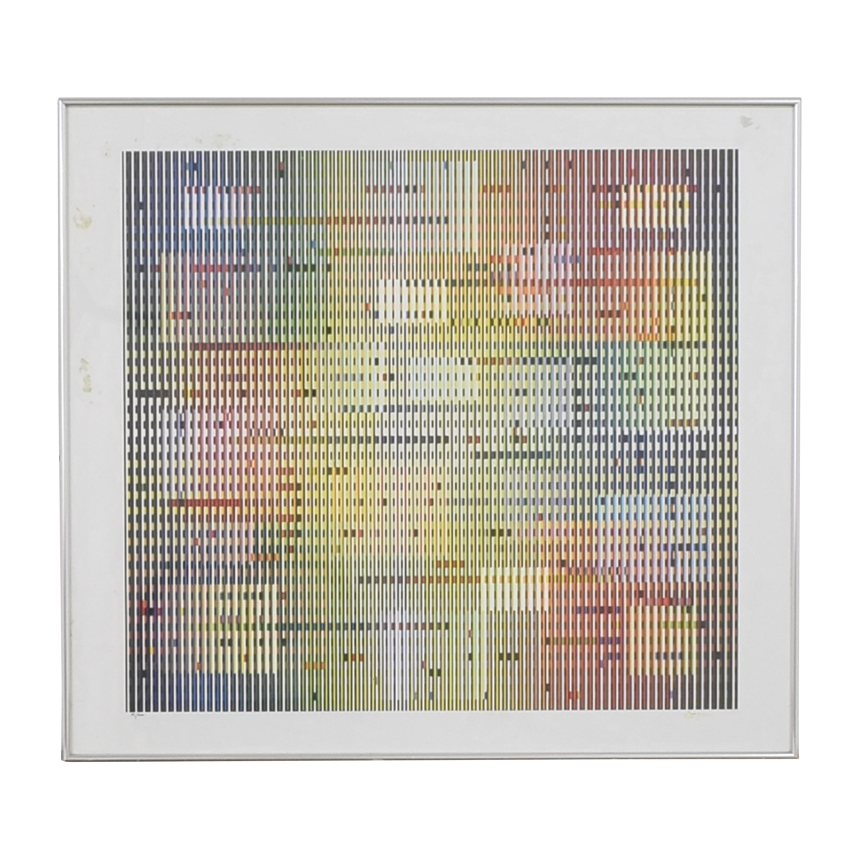 Framed Yaacov Agam Geometric Wall Art price