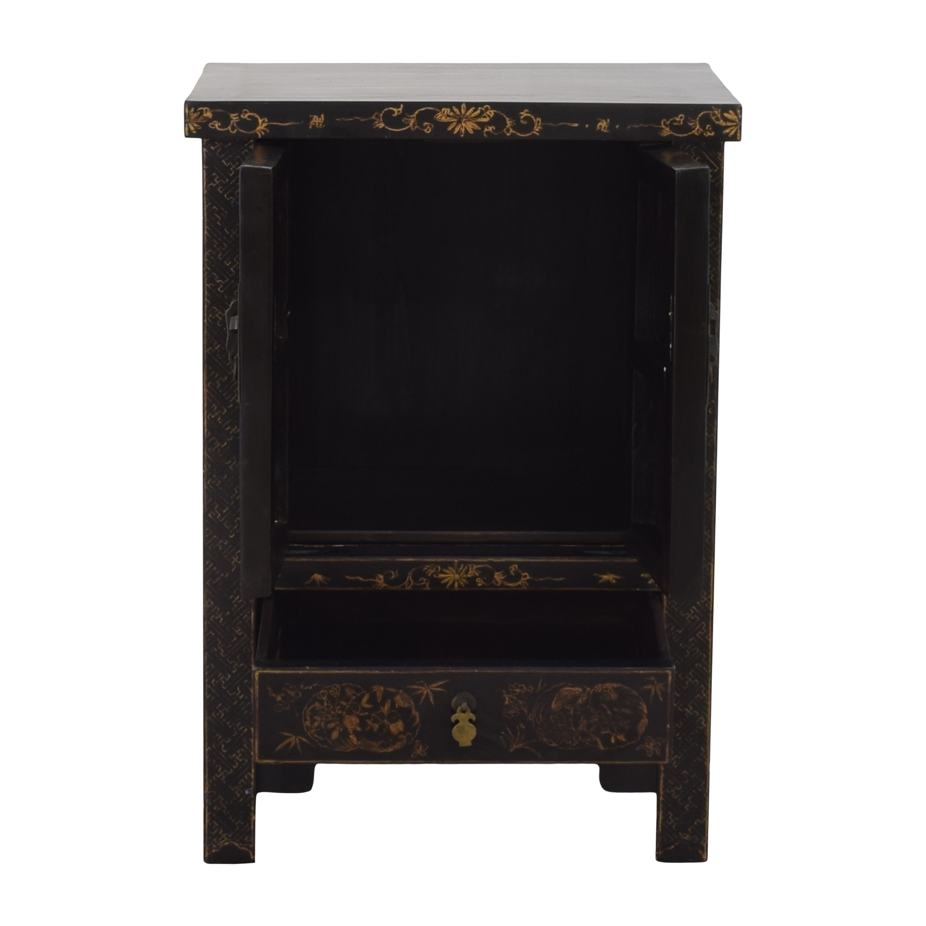 Japanese-Style End Table Cabinet / Cabinets & Sideboards