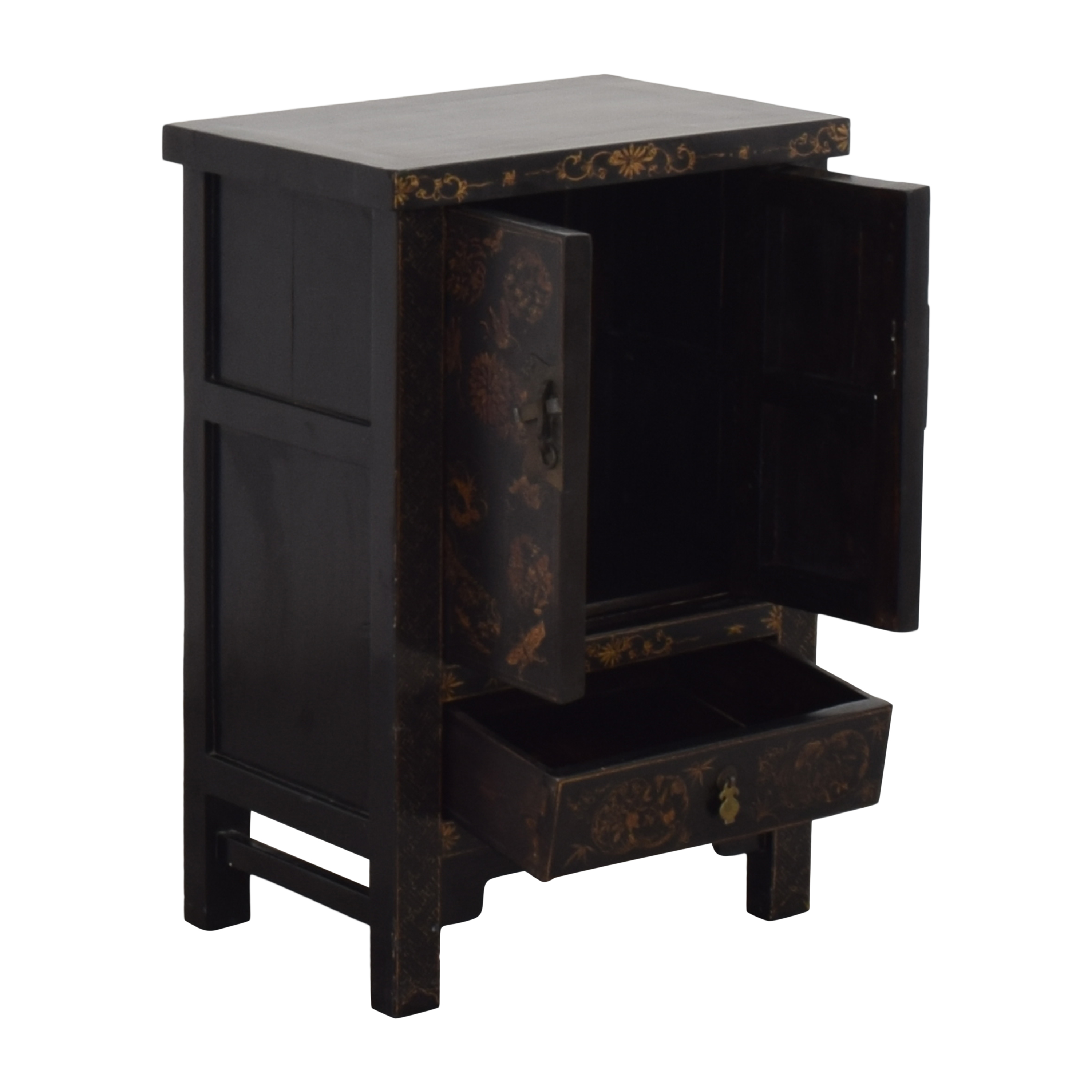 buy Japanese-Style End Table Cabinet  Storage