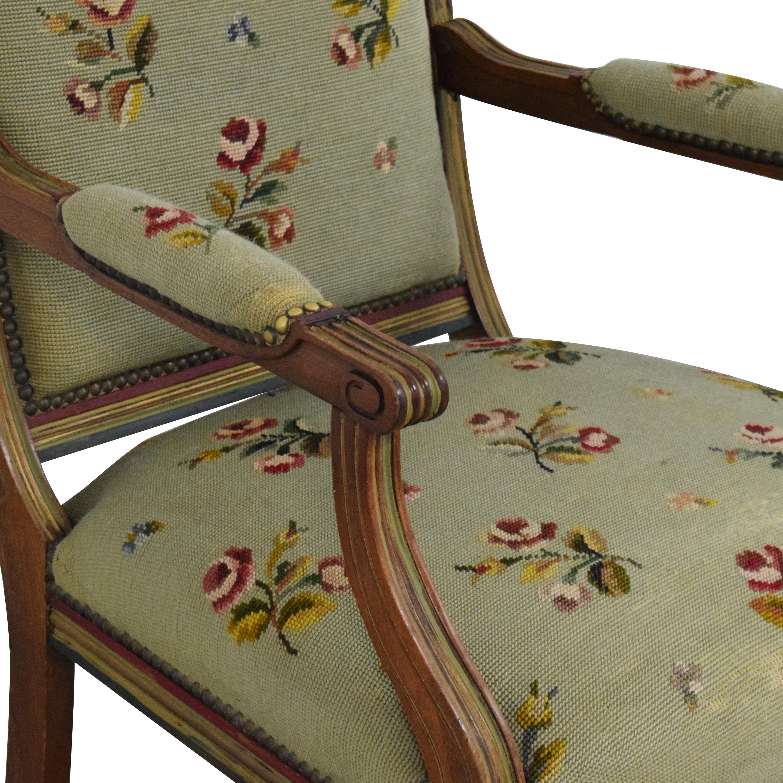 Vintage Floral Accent Chair ct