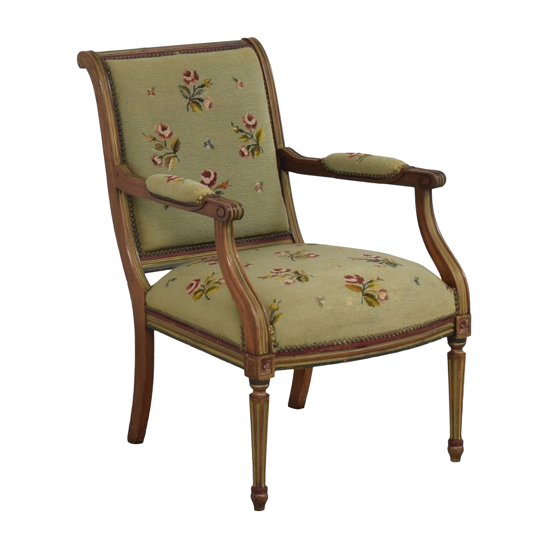 Vintage Floral Accent Chair coupon