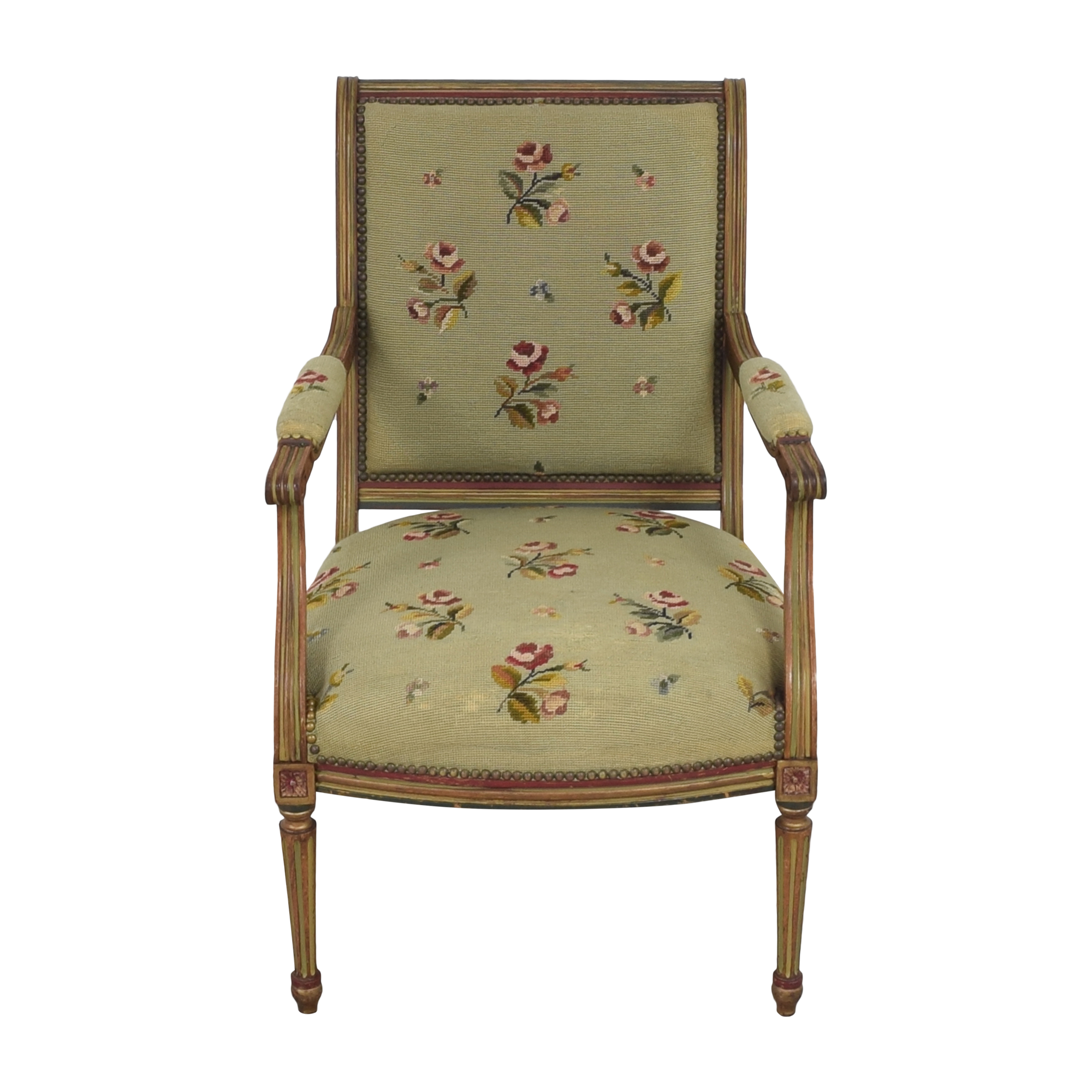 Vintage Floral Accent Chair / Accent Chairs