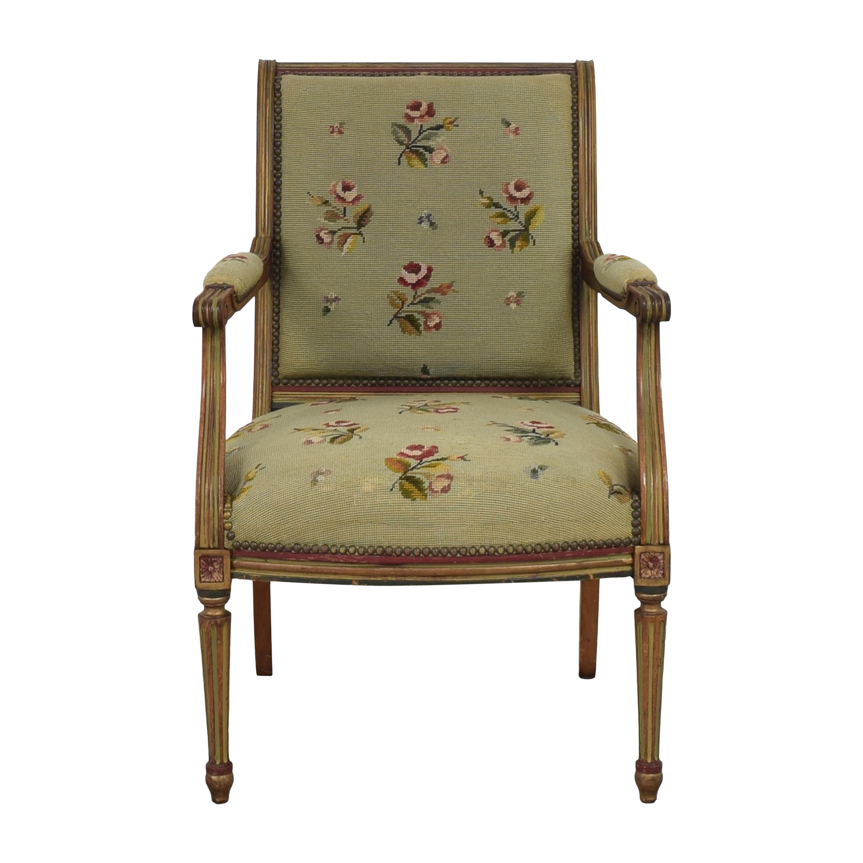 Vintage Floral Accent Chair price