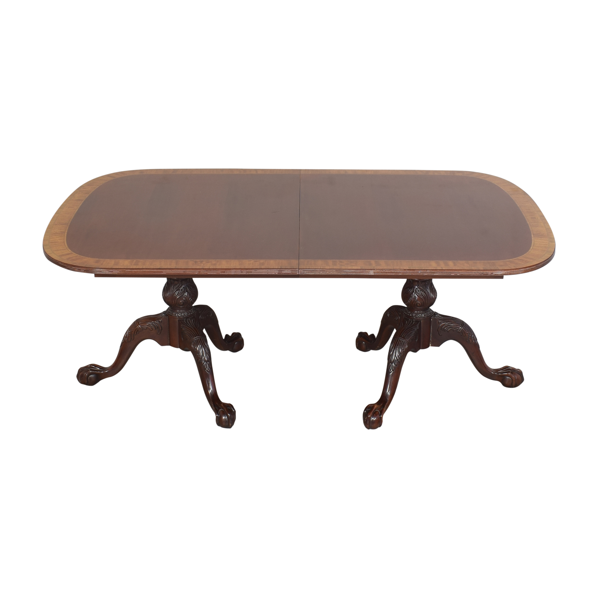 Councill Councill Double Pedestal Dining Table Brown
