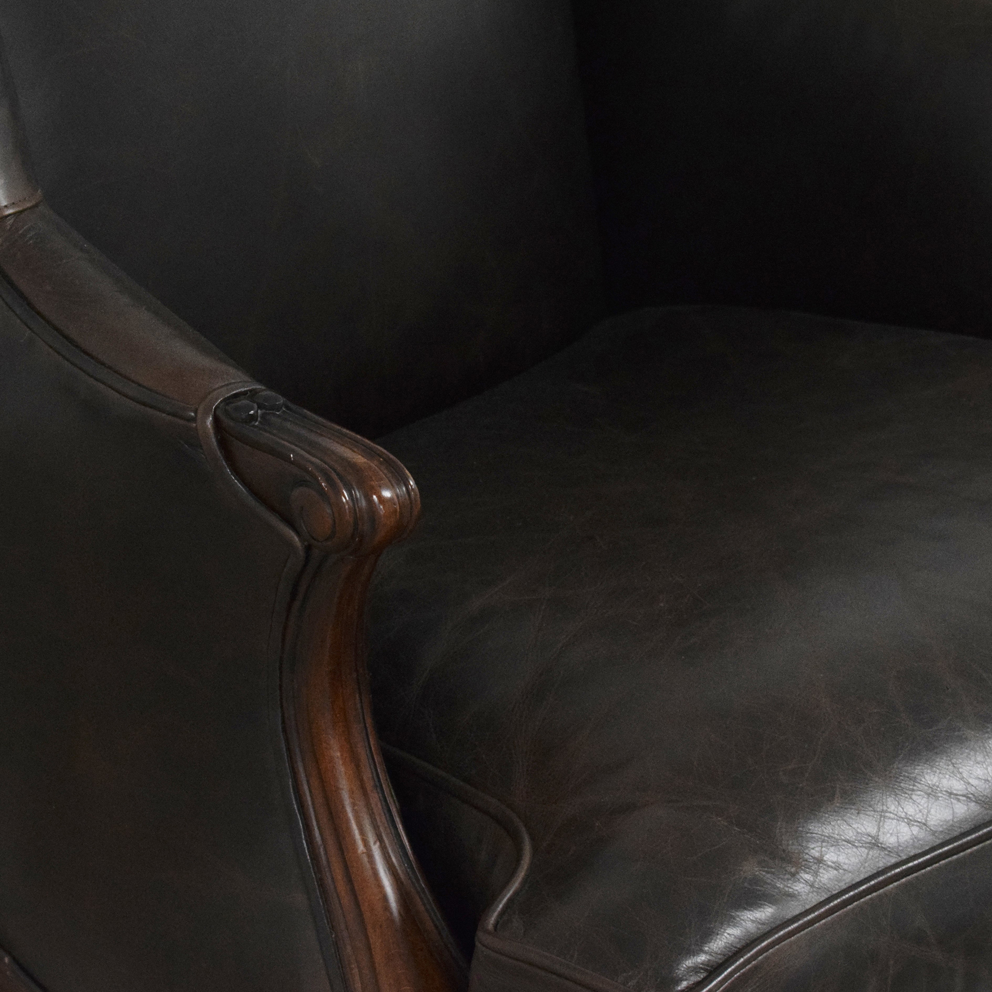 Hickory Chair Hickory Chair Louis XV Wing Chair dimensions