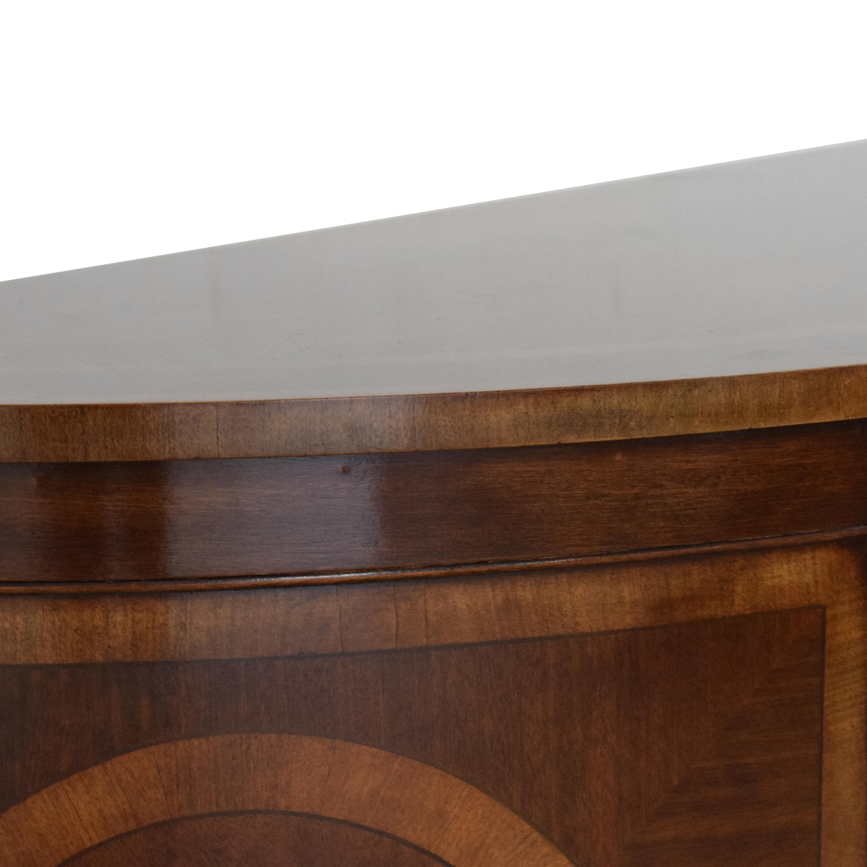 Trosby Furniture Trosby Furniture Demilune Console dimensions