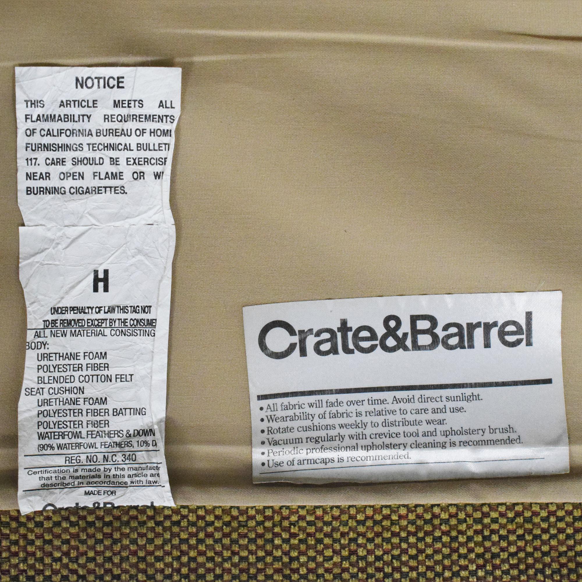 Crate & Barrel Crate & Barrel Three Cushion Sofa Classic Sofas