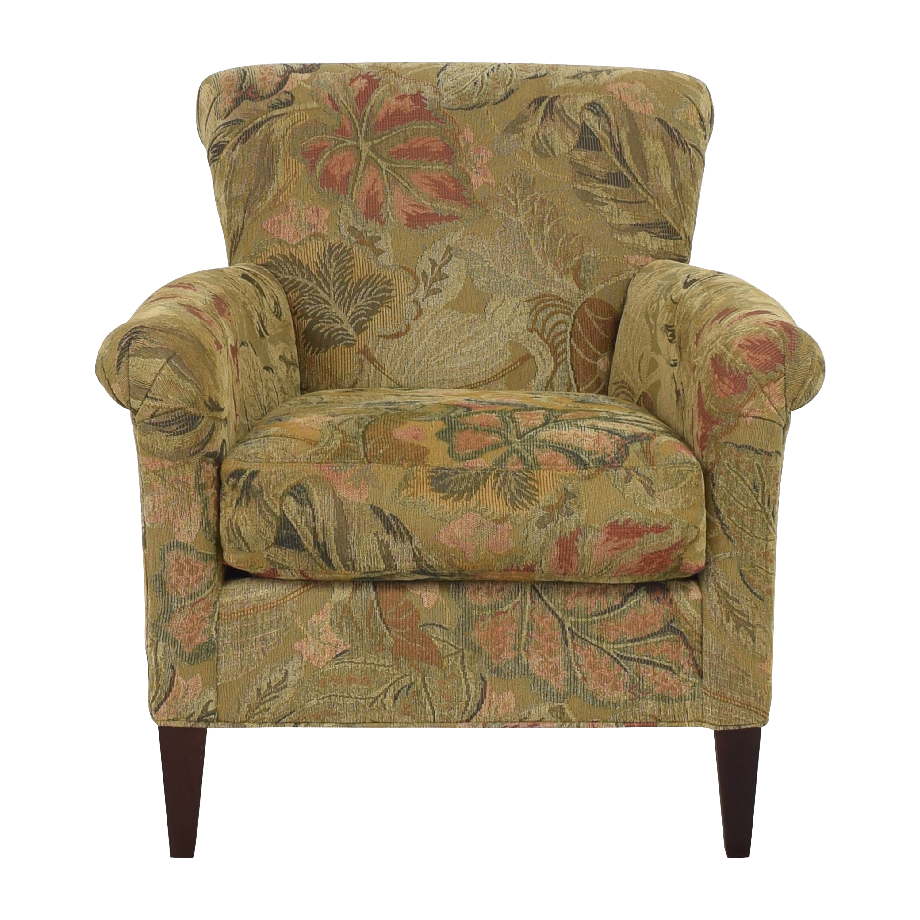 Crate & Barrel Crate & Barrel Accent Chair with Ottoman pa