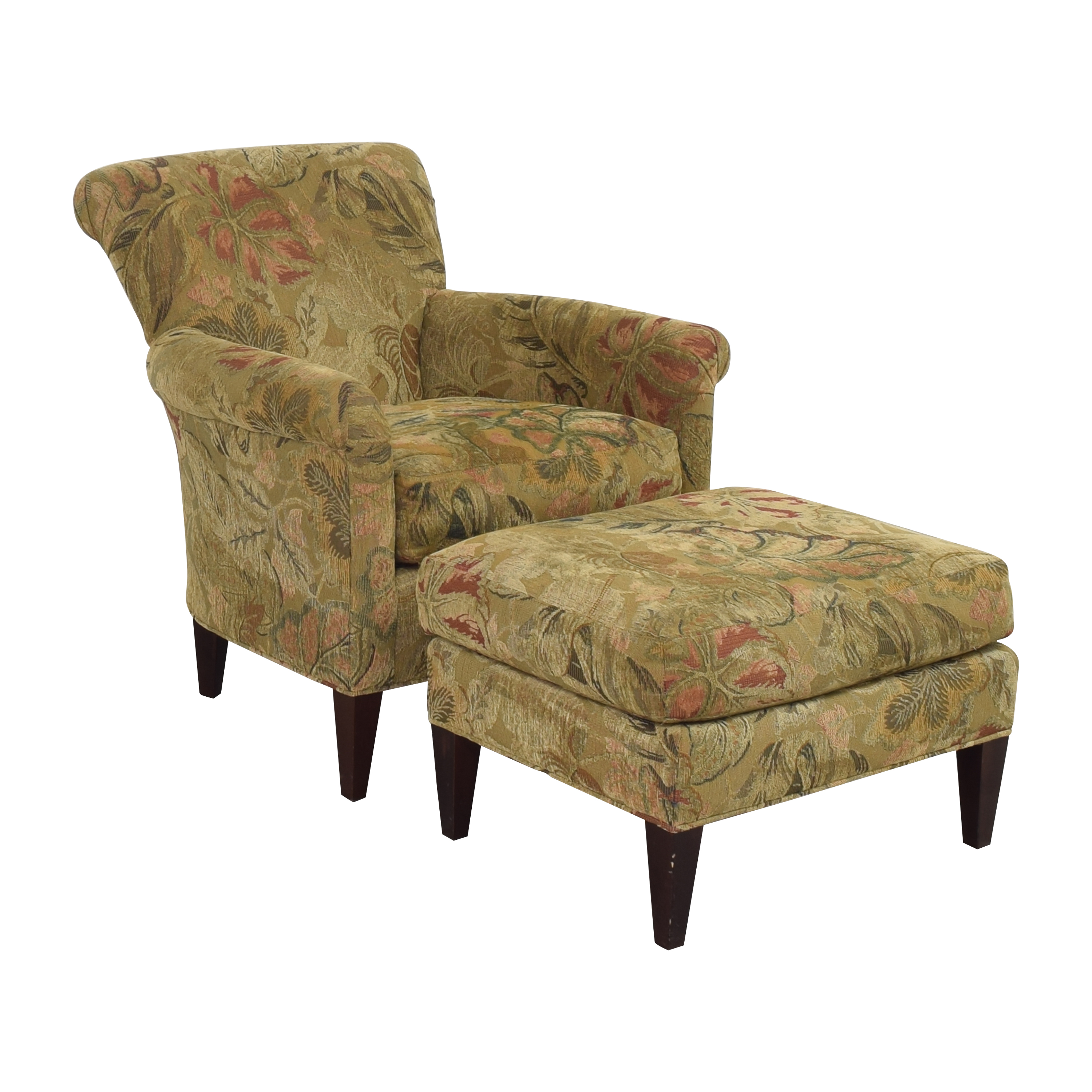 Crate & Barrel Crate & Barrel Accent Chair with Ottoman Accent Chairs
