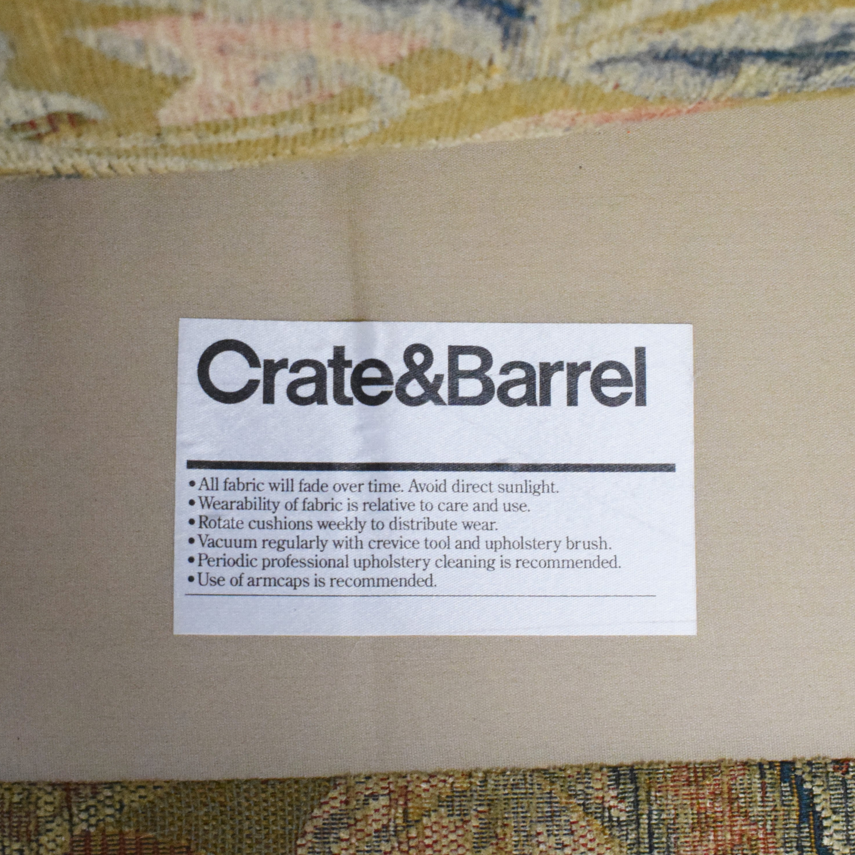 Crate & Barrel Crate & Barrel Accent Chair with Ottoman discount